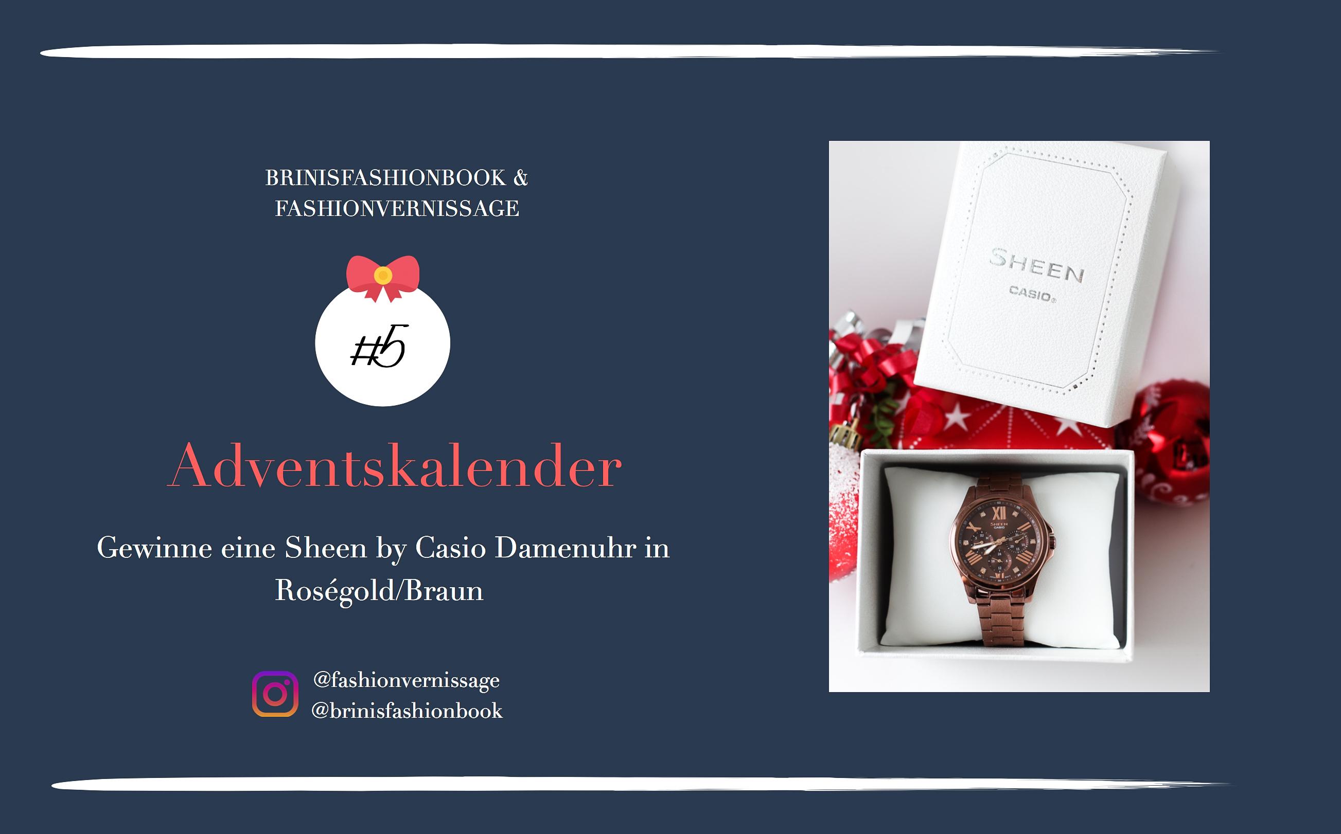 Adventskalender Blog Fashion Blog Deutschland Gewinne Sheen by Casio Damenuhr in Roségold Braun Gewinnspiel Geschenkidee Weihnachten 6