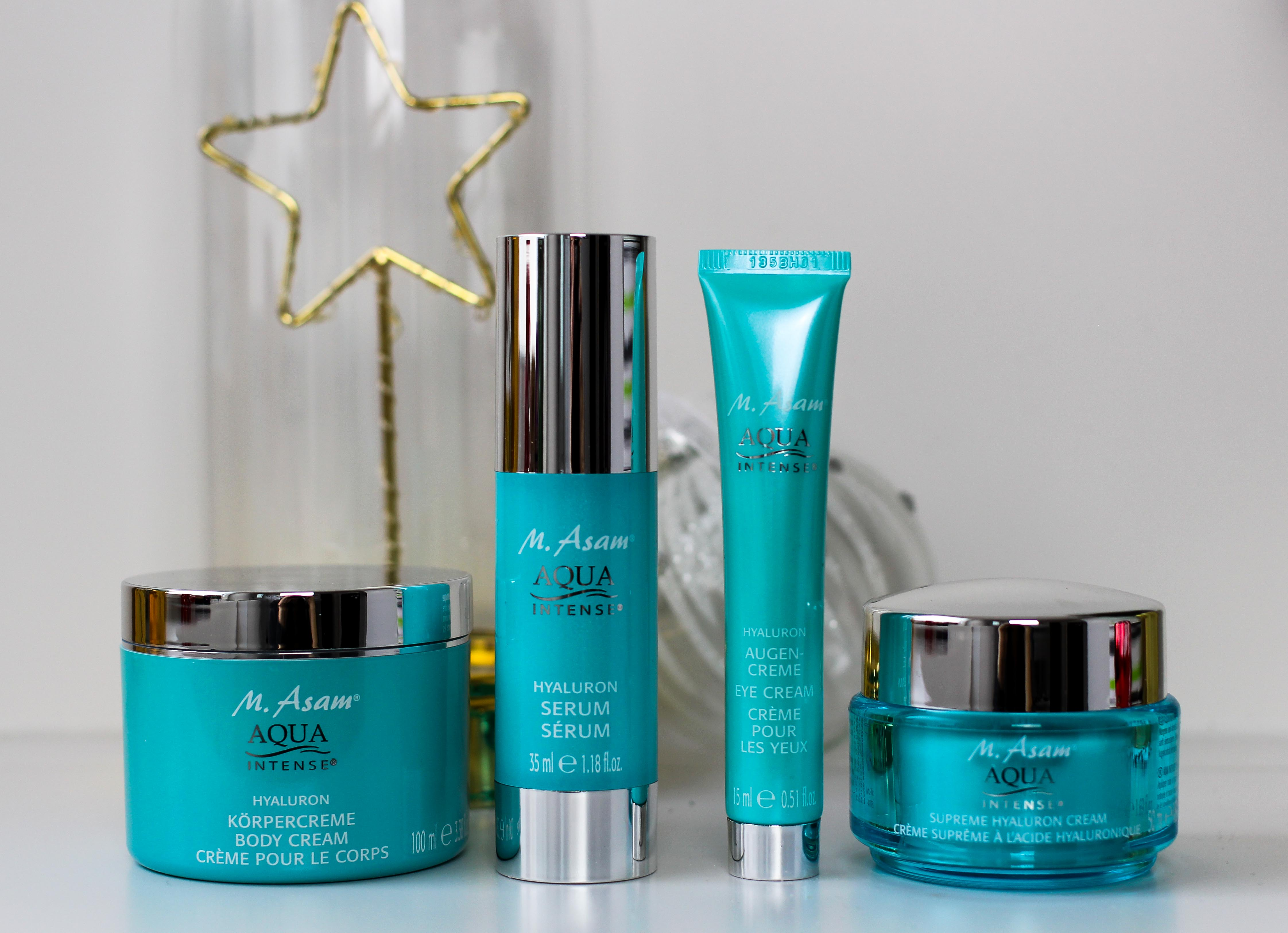 Adventskalender Blogger Deutschland 4-Teiliges Aqua Intense-Set Asambeauty Weihnachtsgeschenk Idee Beauty-Paket 4