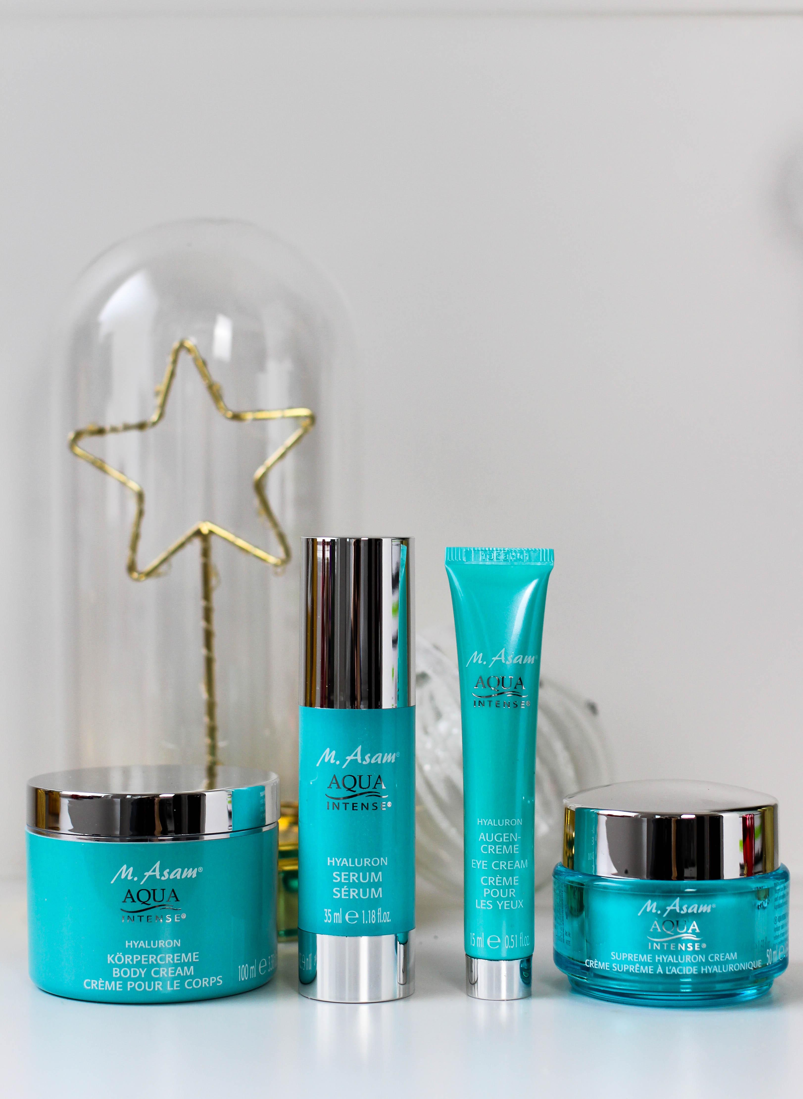 Adventskalender Blogger Deutschland 4-Teiliges Aqua Intense-Set Asambeauty Weihnachtsgeschenk Idee Beauty-Paket Hyaluron Creme