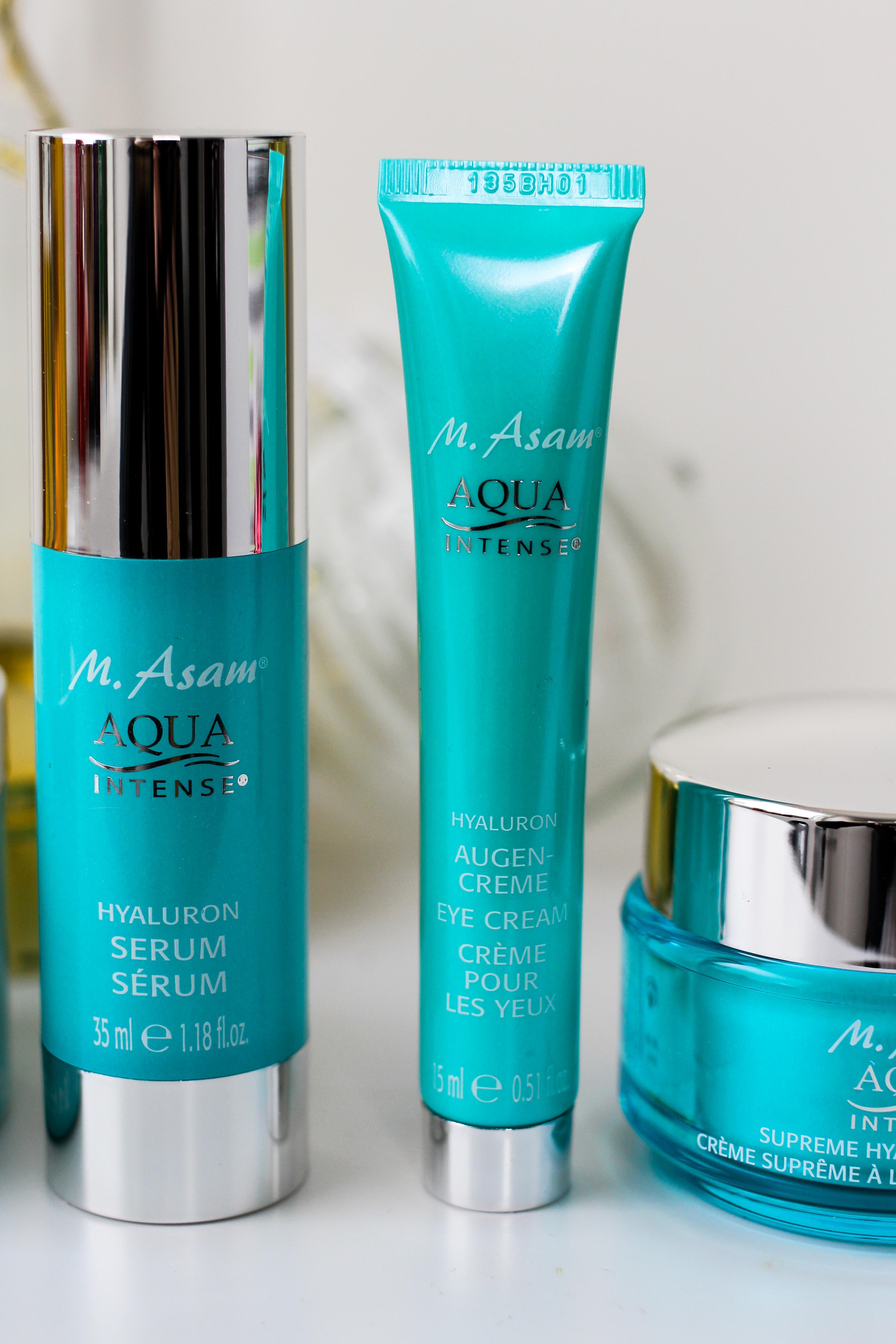 Adventskalender Blogger Deutschland 4-Teiliges Aqua Intense-Set Asambeauty Weihnachtsgeschenk Idee Beauty-Paket Hyaluron Serum Augencreme