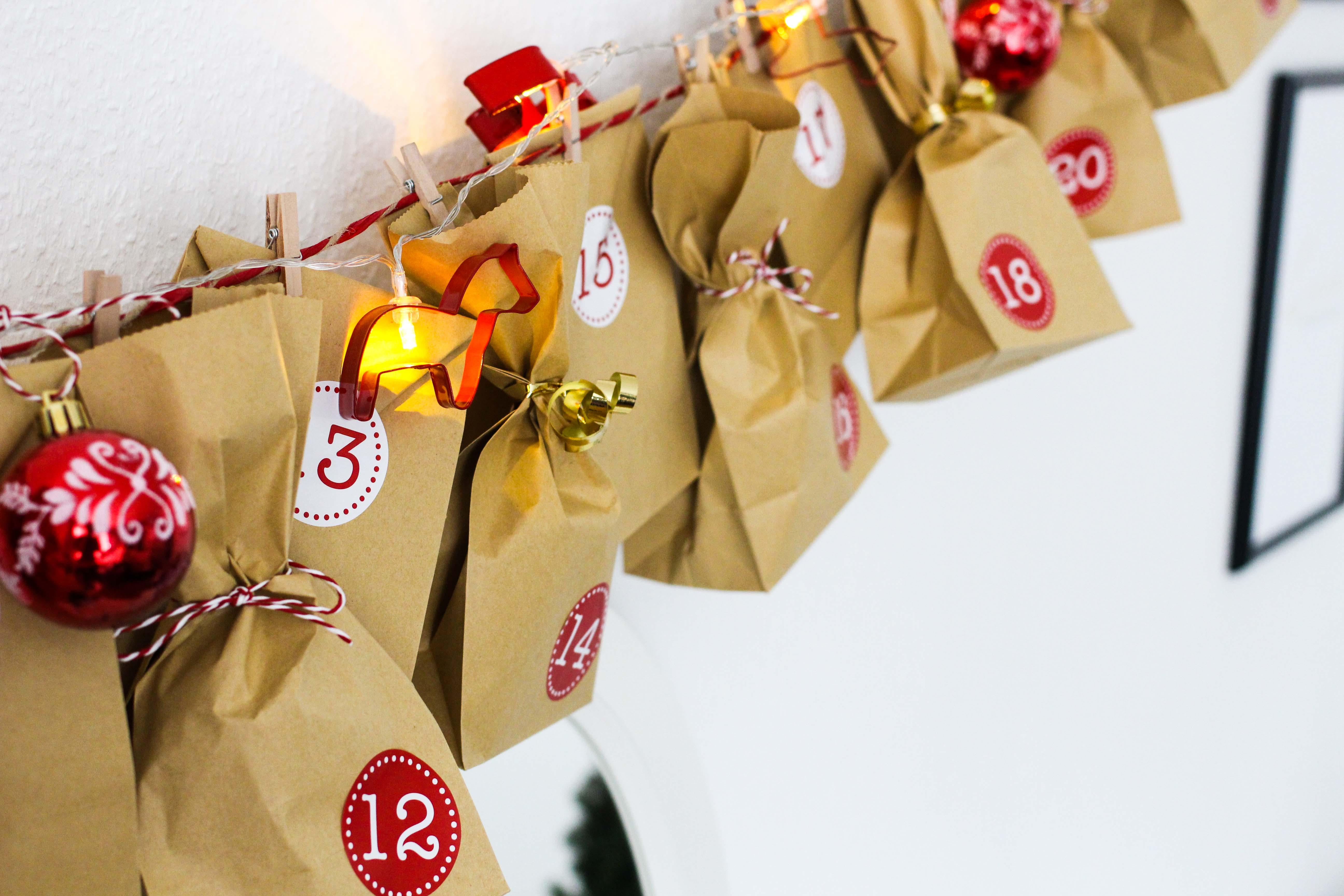 Adventskalender DIY Adventskalender selber machen Geschenke kreativ einpacken Weihnachten Blog