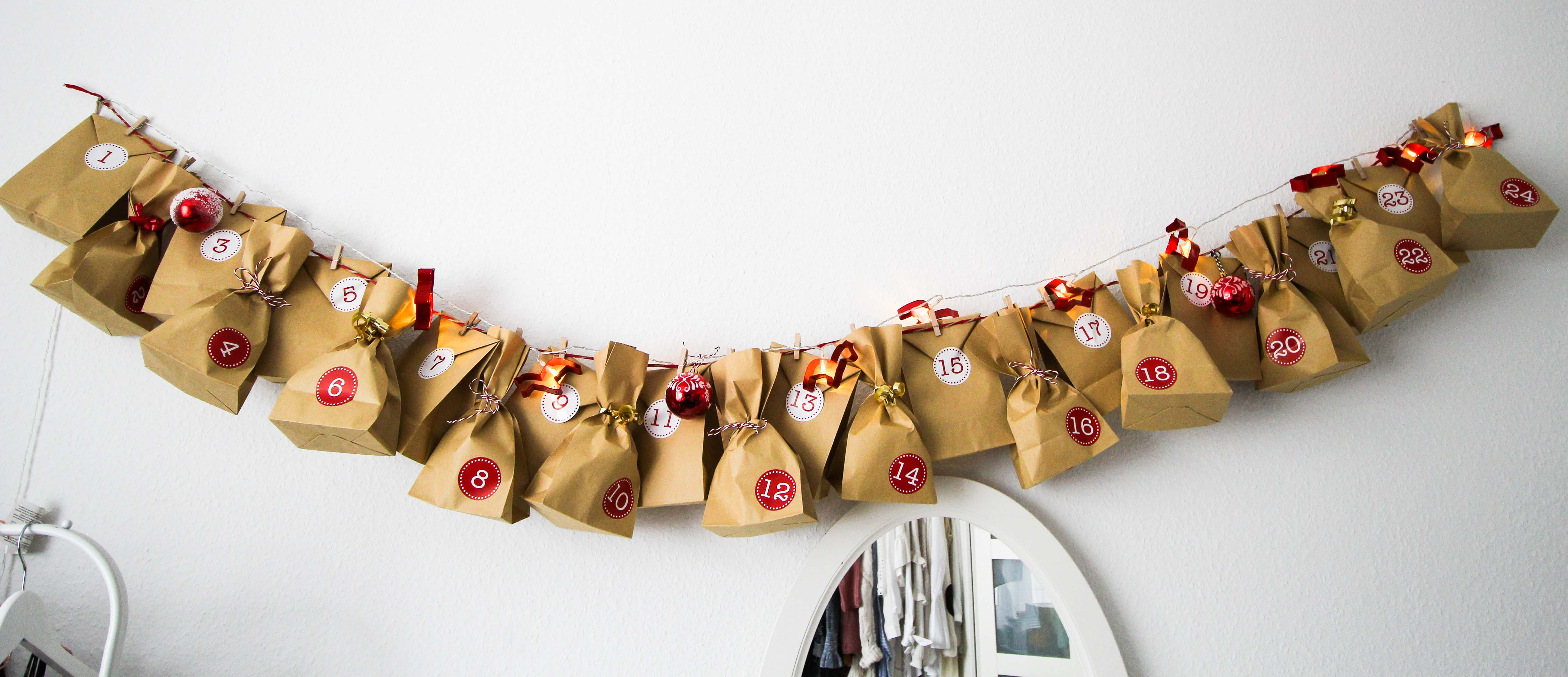 Adventskalender DIY Adventskalender selber machen Geschenke kreativ einpacken Weihnachten Clas Ohlson Geschenk Ideen Dekoration