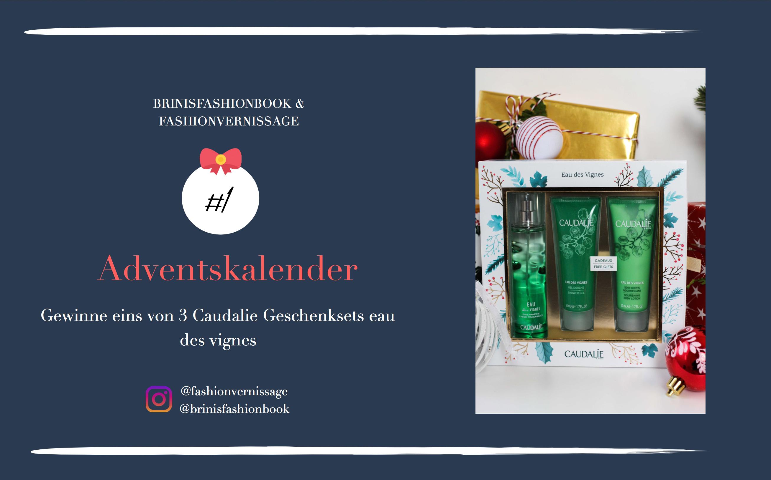 Adventskalender Türchen Gewinne 3 Caudalie Geschenksets eau des vignes Weihnachten 4