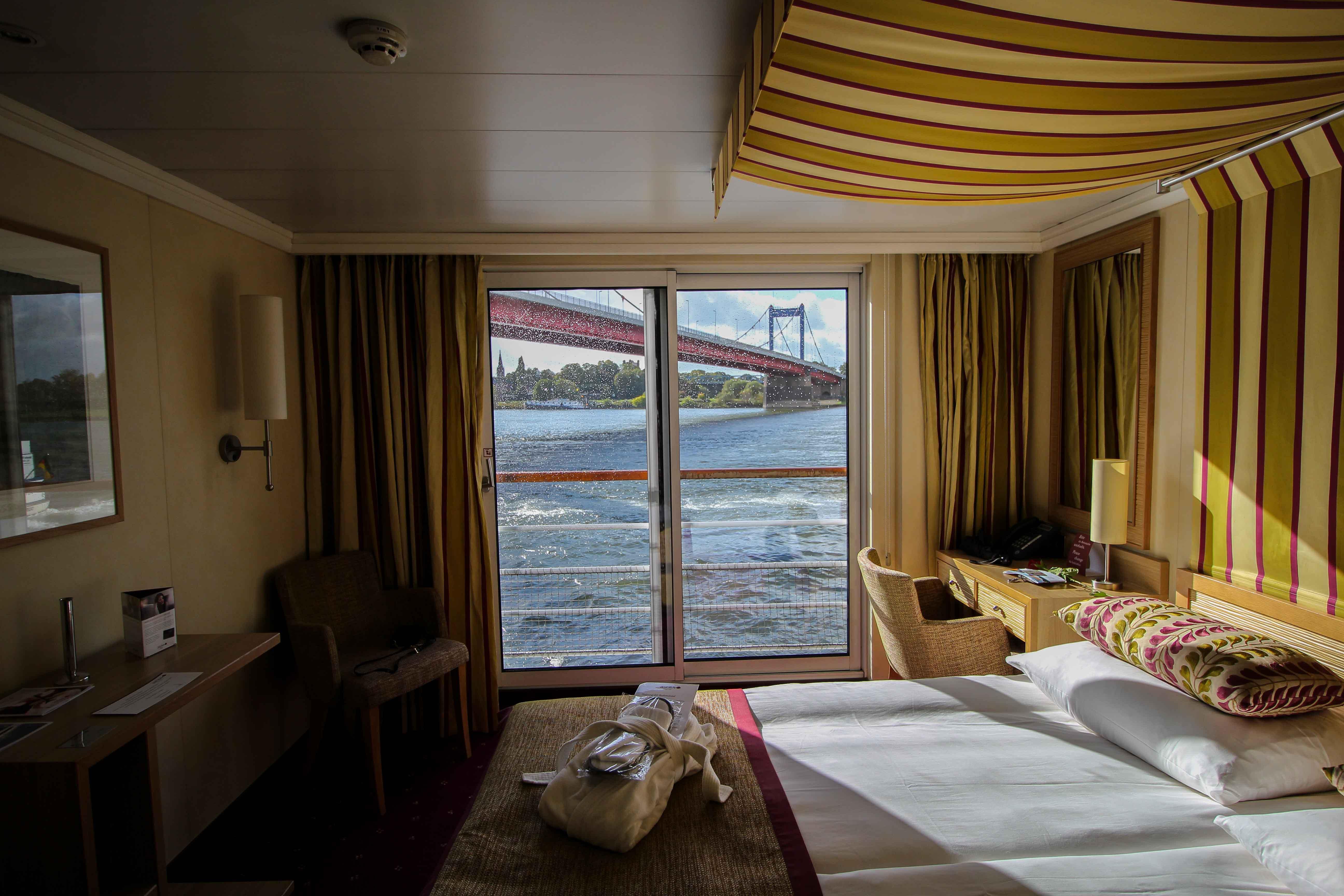 Außenkabine mit französischem Balkon Flusskreuzfahrt A-ROSA SILVA Kreuzfahrtschiff Flusskreuzfahrt Reiseblog