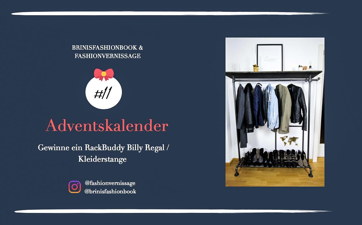 Blogger Adventskalender Gewinnspiel Rackbuddy Regal industrial Kleiderstange Rohre RackBuddy Billy Regal Interior Ankleidezimmer Kleiderstange 7