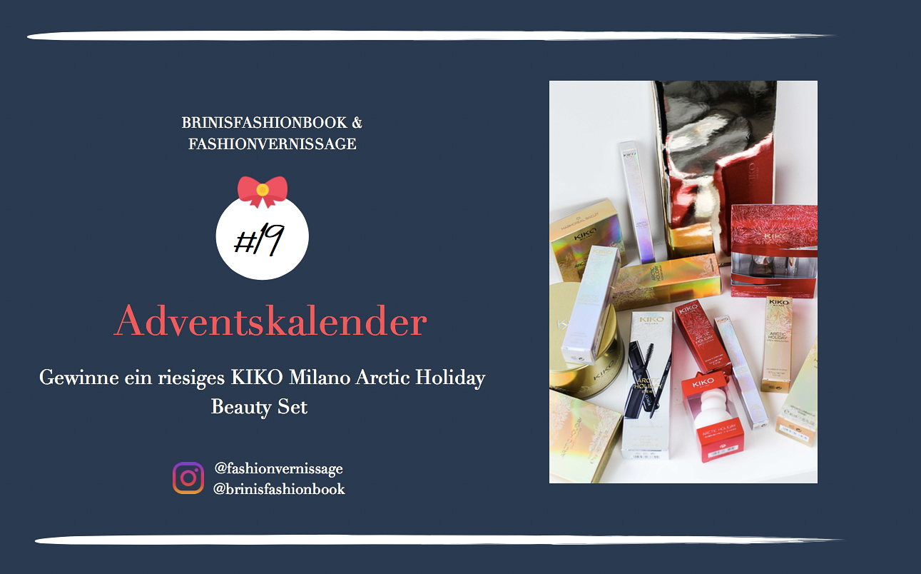 Blogger Adventskalender KIKO Milano Arctic Holiday Beauty Set Wimperntusche Lippenstift Beauty Blogger 1