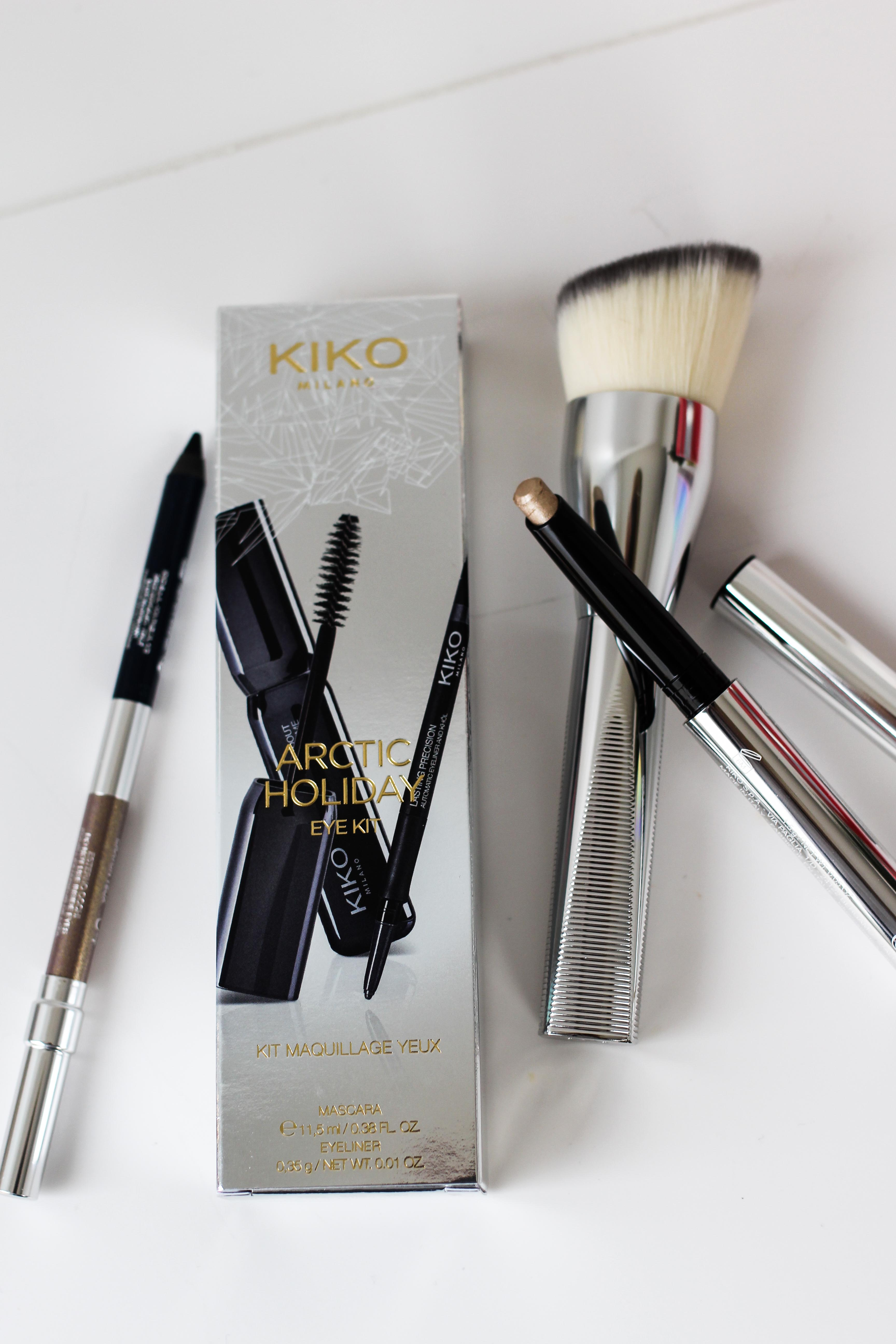 Blogger Adventskalender KIKO Milano Arctic Holiday Beauty Set Wimperntusche Pinsel Beauty Blogger