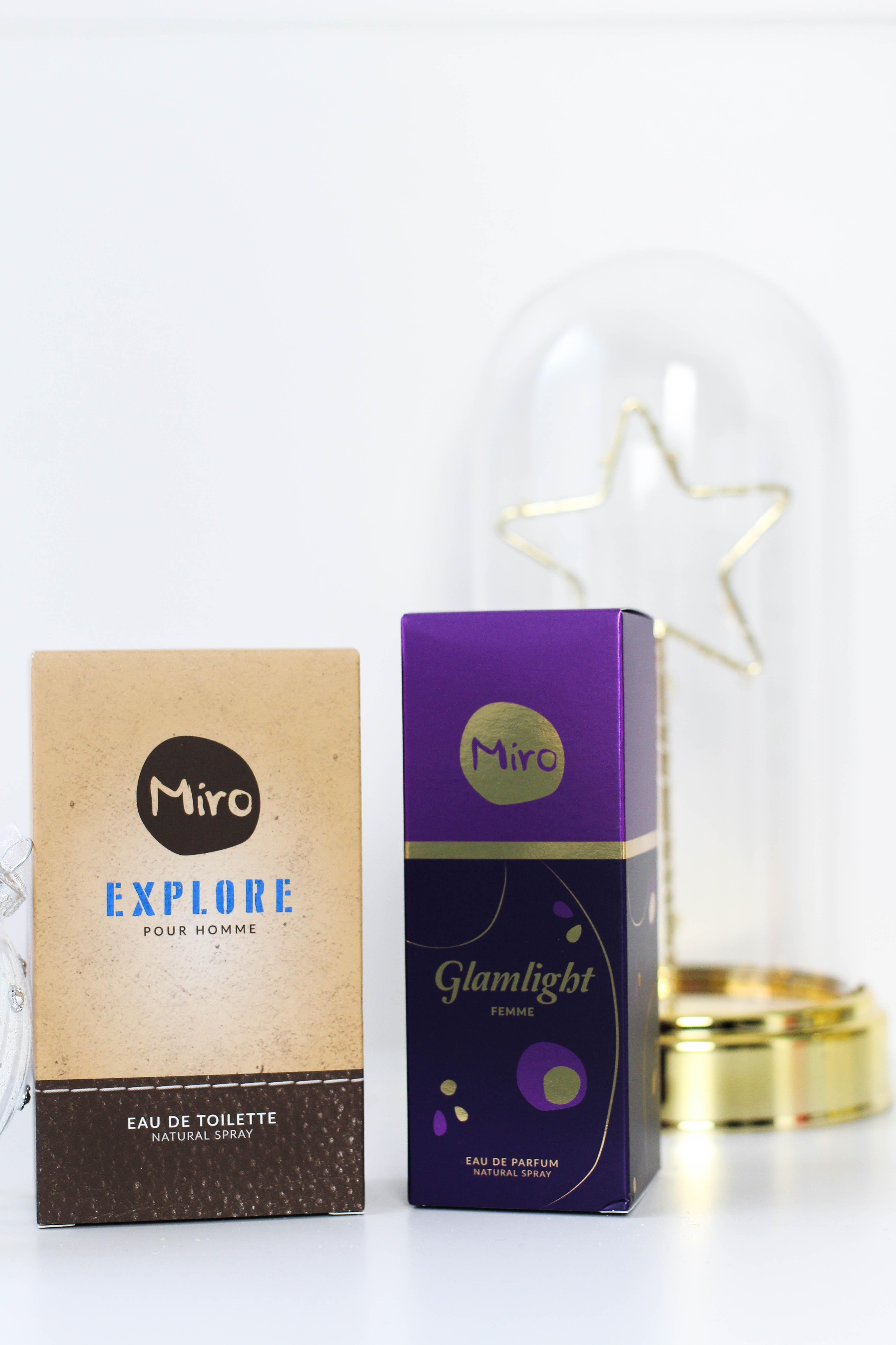 Blogger Adventskalender MIRO Parfüm Set sie ihn gewinnen Gewinnspiel Miro Damenduft Glamlight Miro Herrenduft Explore Weihnachtsgeschenk idee
