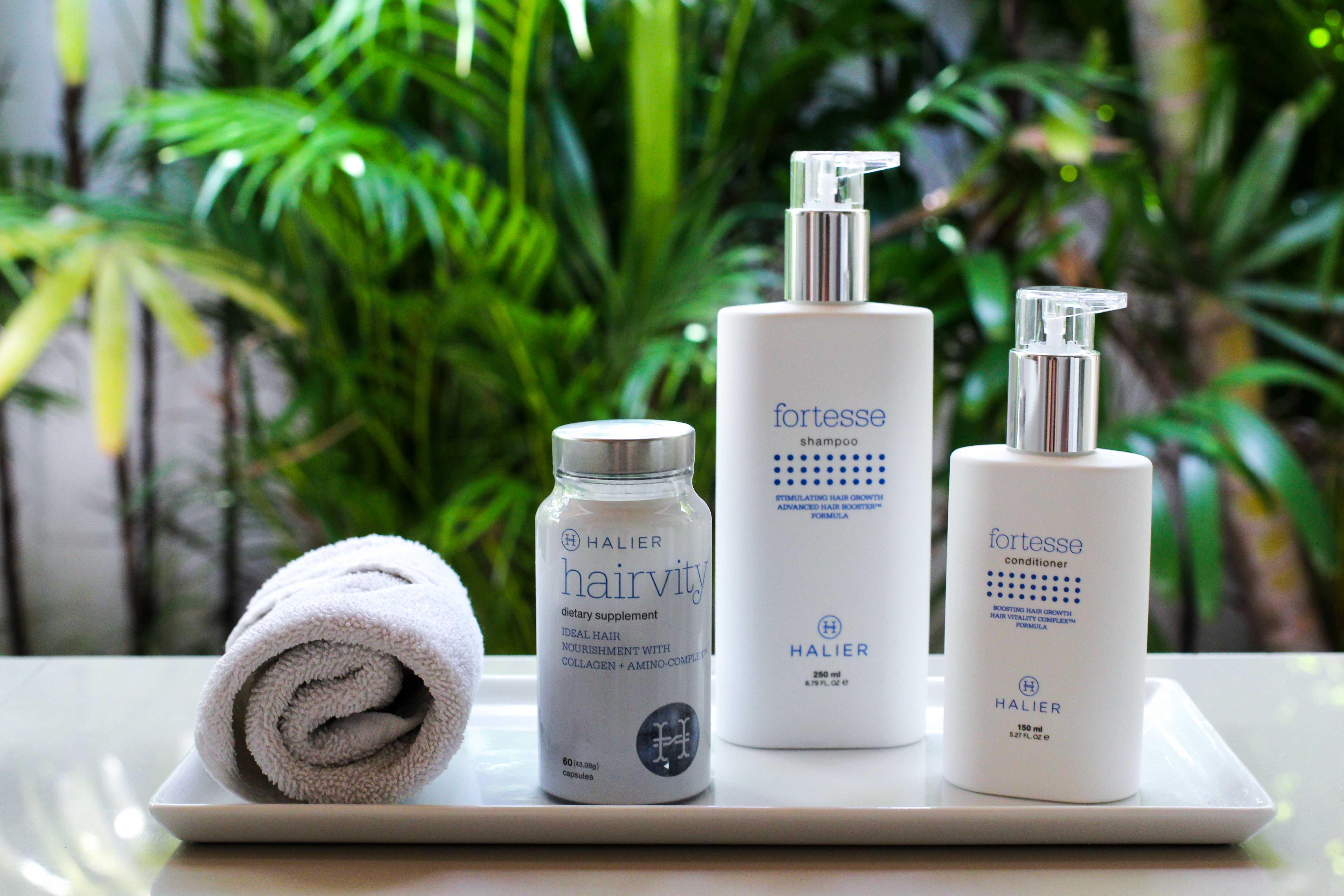 Haarpflege Halier Fortesse Shampoo Conditioner Test gesundes kräftiges Haar Beauty Blog Bali