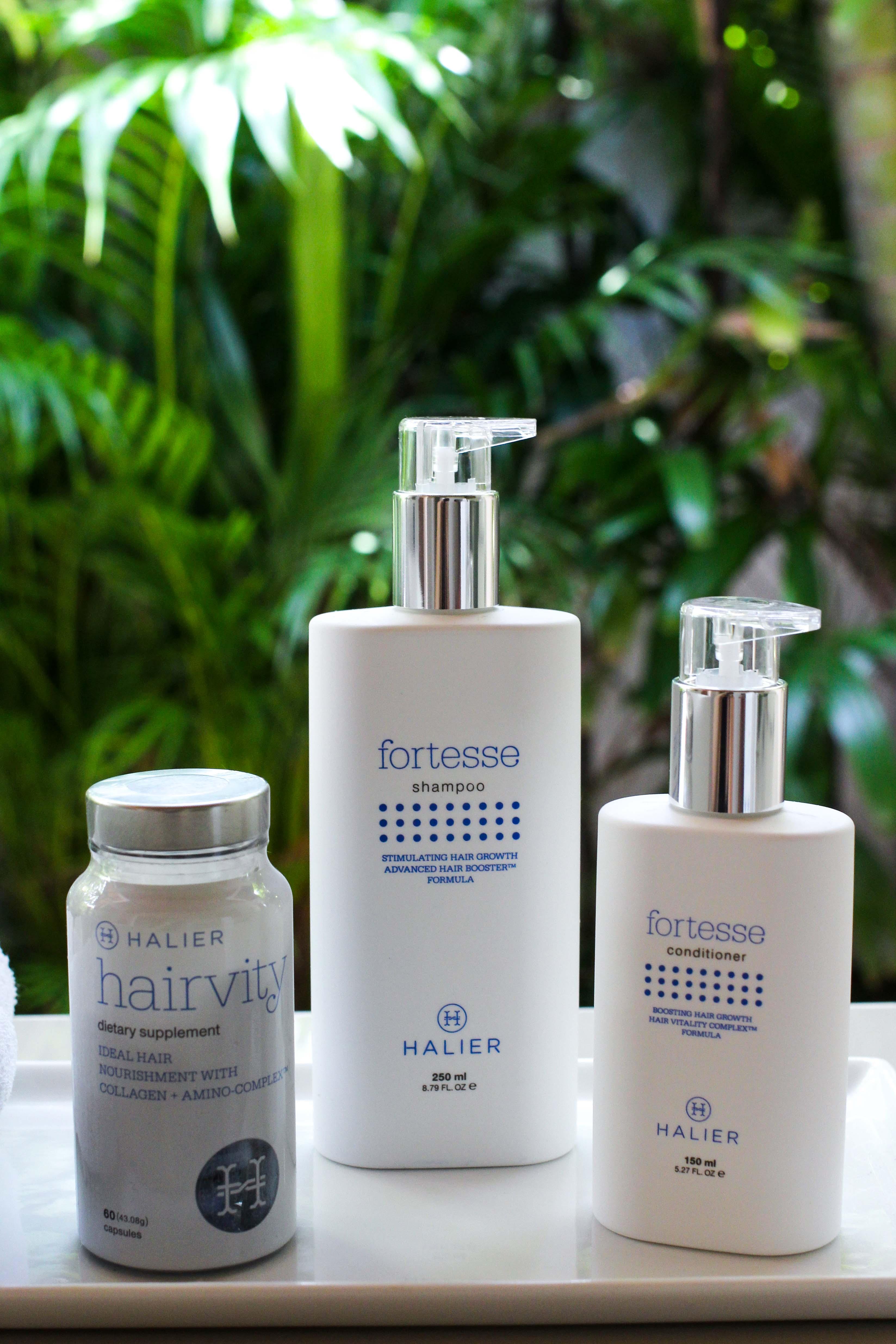 Haarpflege Halier Fortesse Shampoo Conditioner Test gesundes kräftiges Haar Beauty Blog