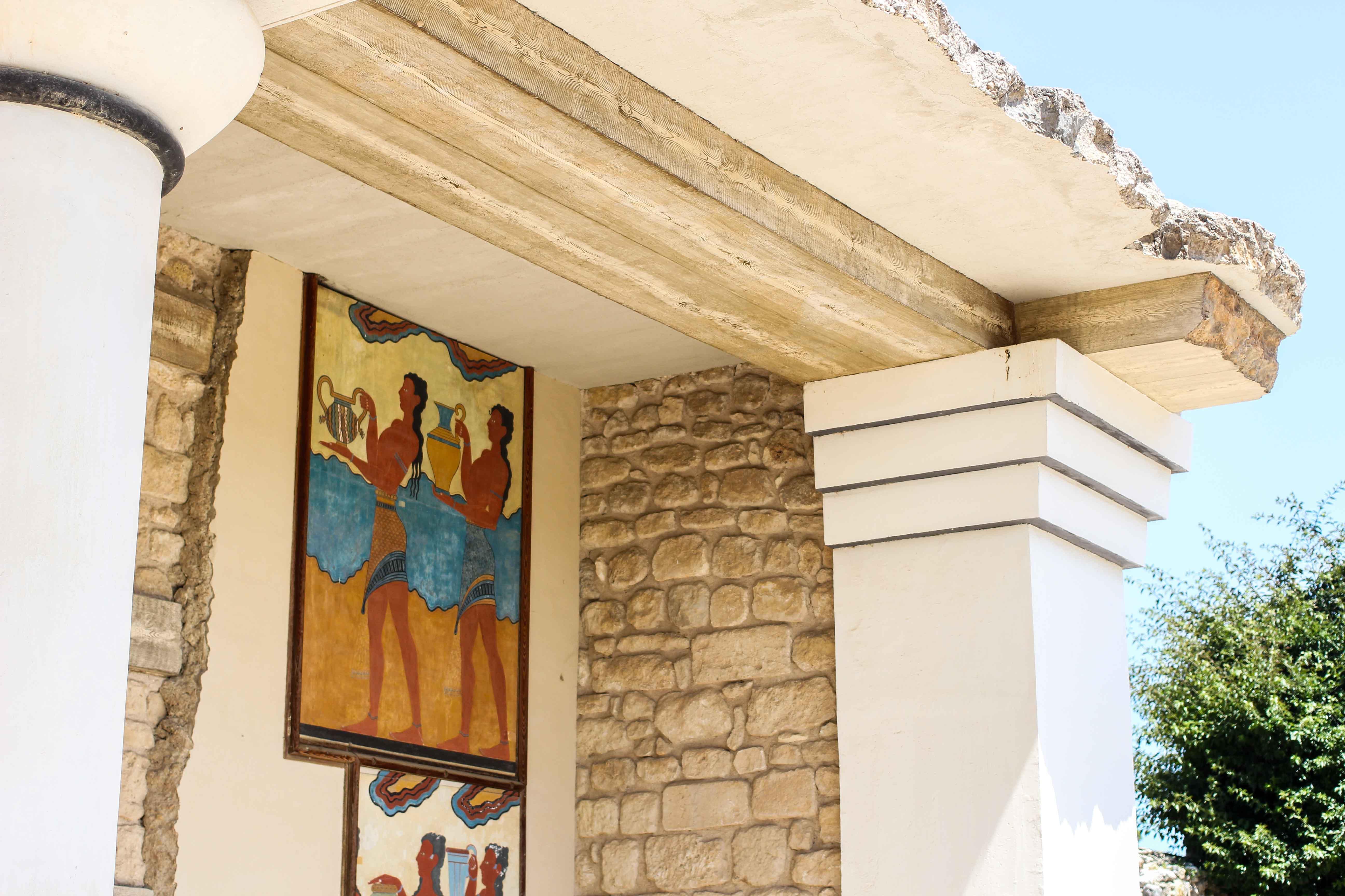 Top Kreta Sightseeing Kreta Sehenswürdigkeiten für einen Tagesausflug Knossos Ruinen Haus Malereien