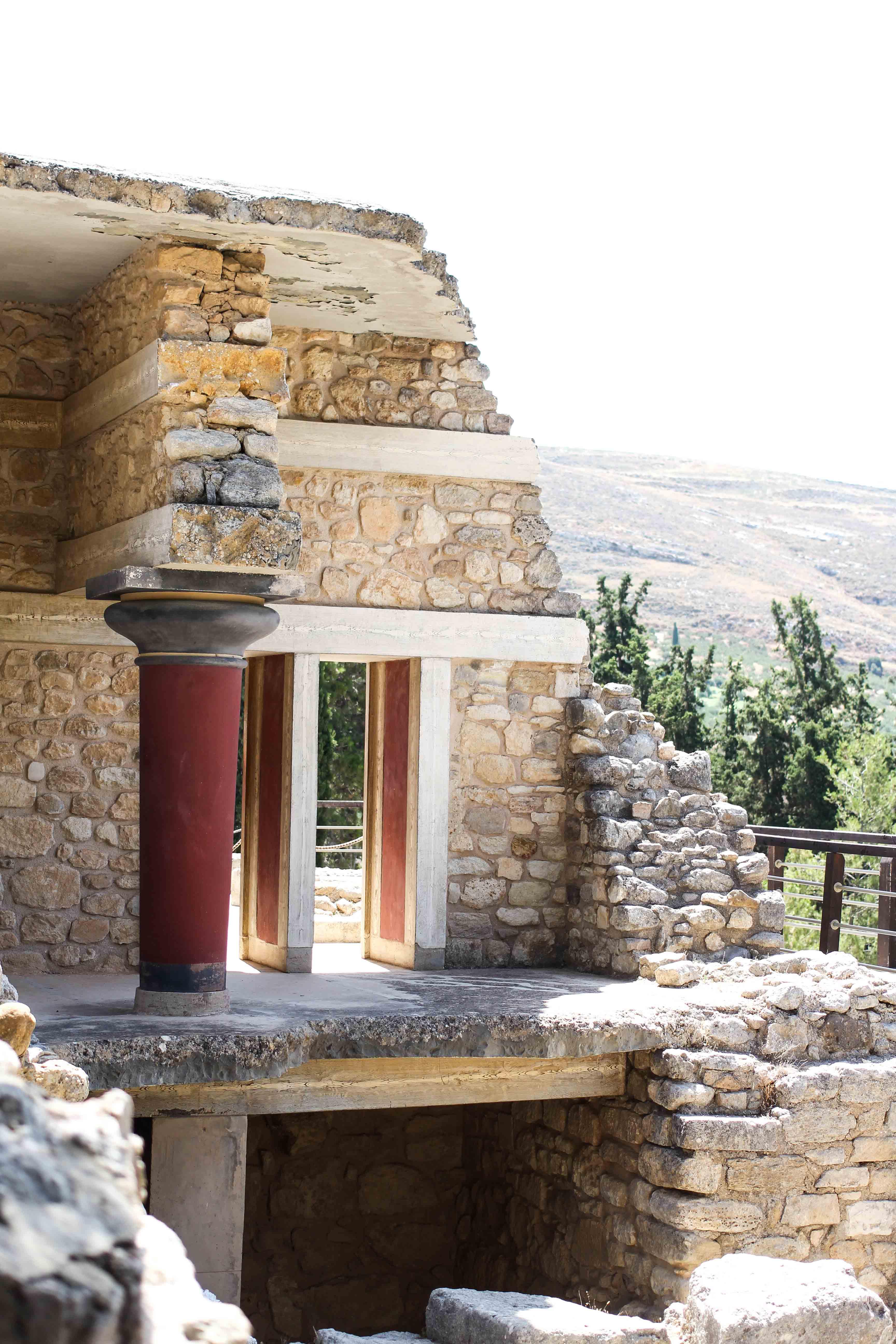 Top Kreta Sightseeing Kreta Sehenswürdigkeiten für einen Tagesausflug Knossos Ruinen Haus Säulen
