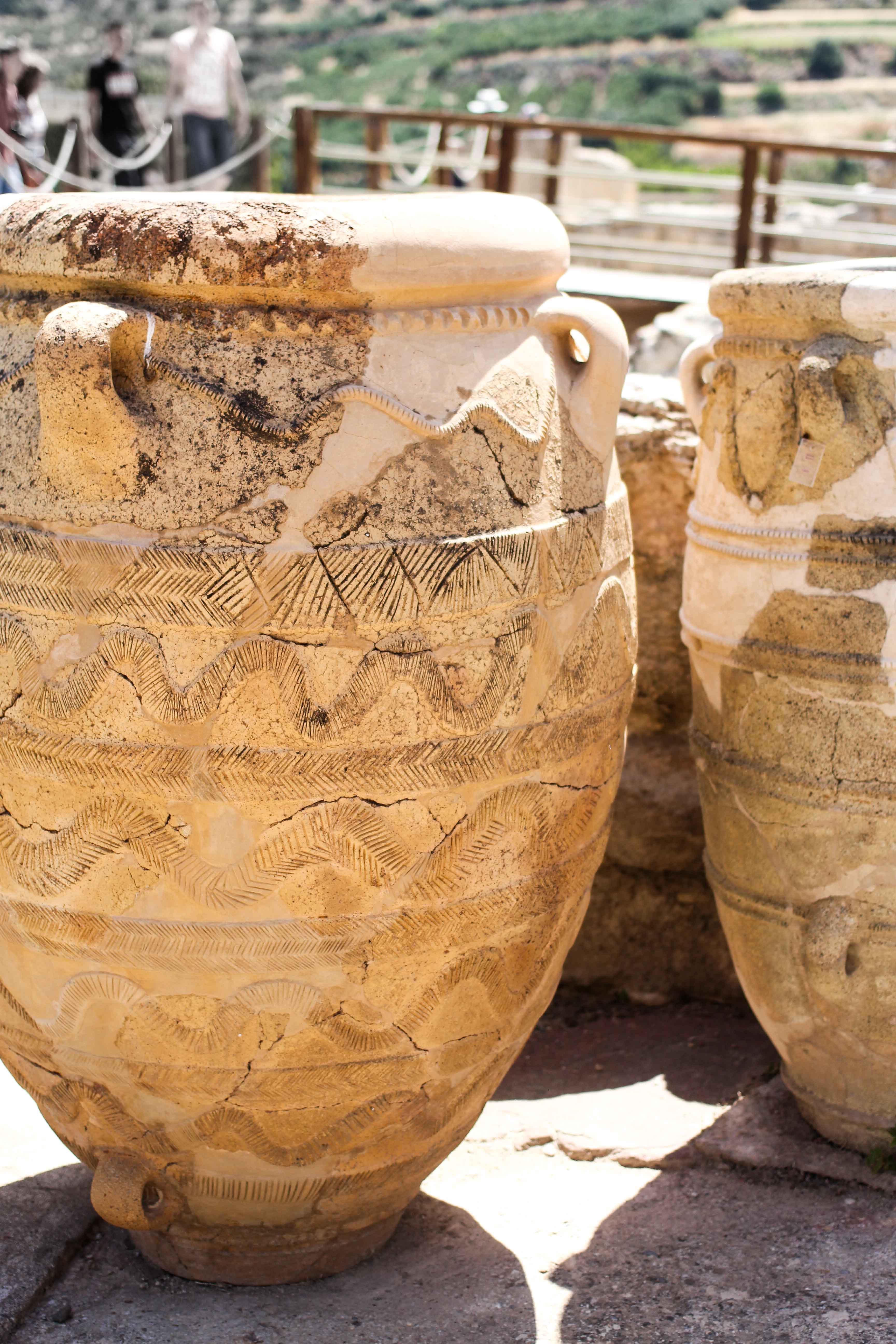 Top Kreta Sightseeing Kreta Sehenswürdigkeiten für einen Tagesausflug Knossos Ruinen Tontöpfe