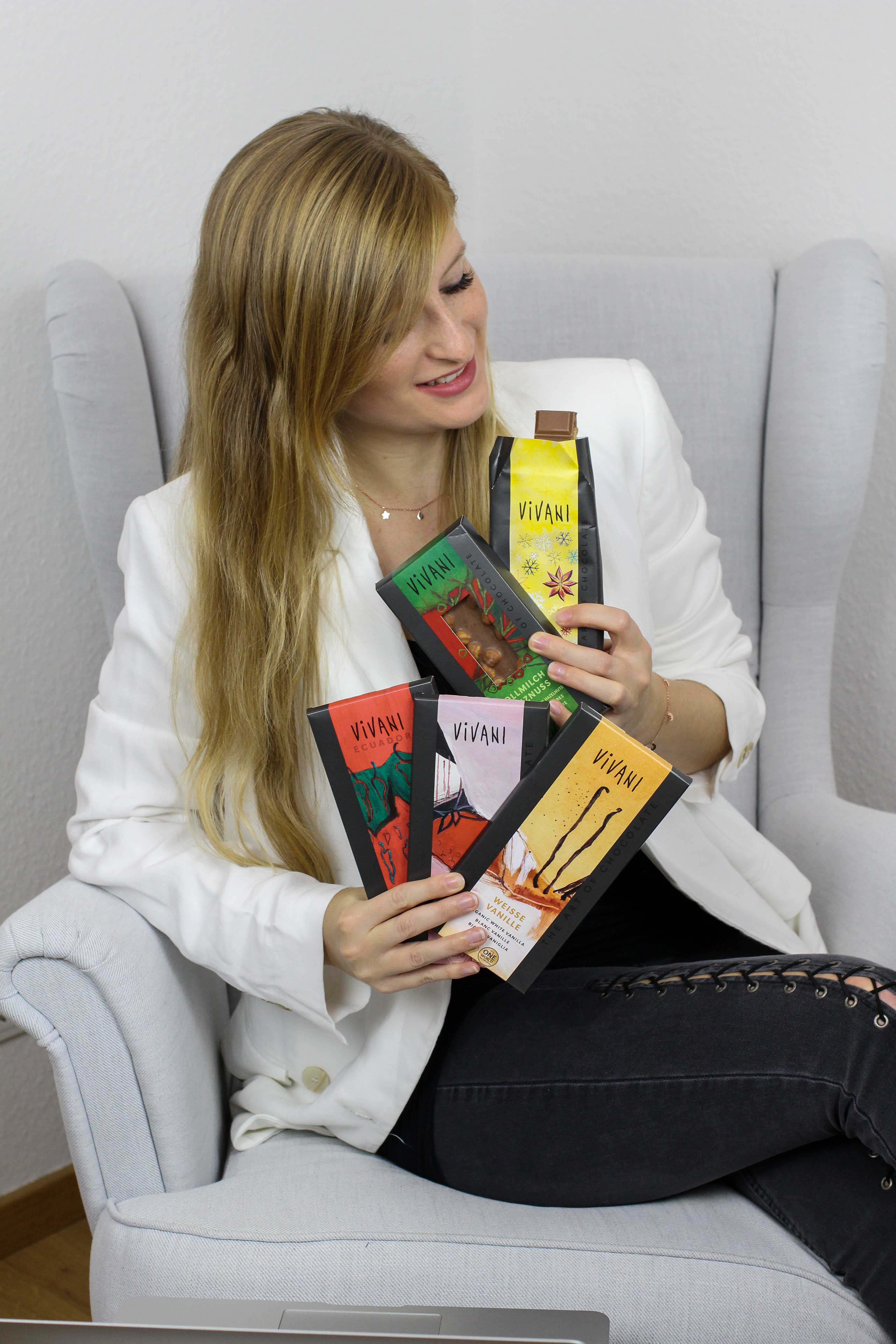 Blogger Adventskalender 24 Days of Christmas Blogging Vivani Schokoladen Sets Winterschokolade Nussschokolade Blogger Arbeitsplatz 5