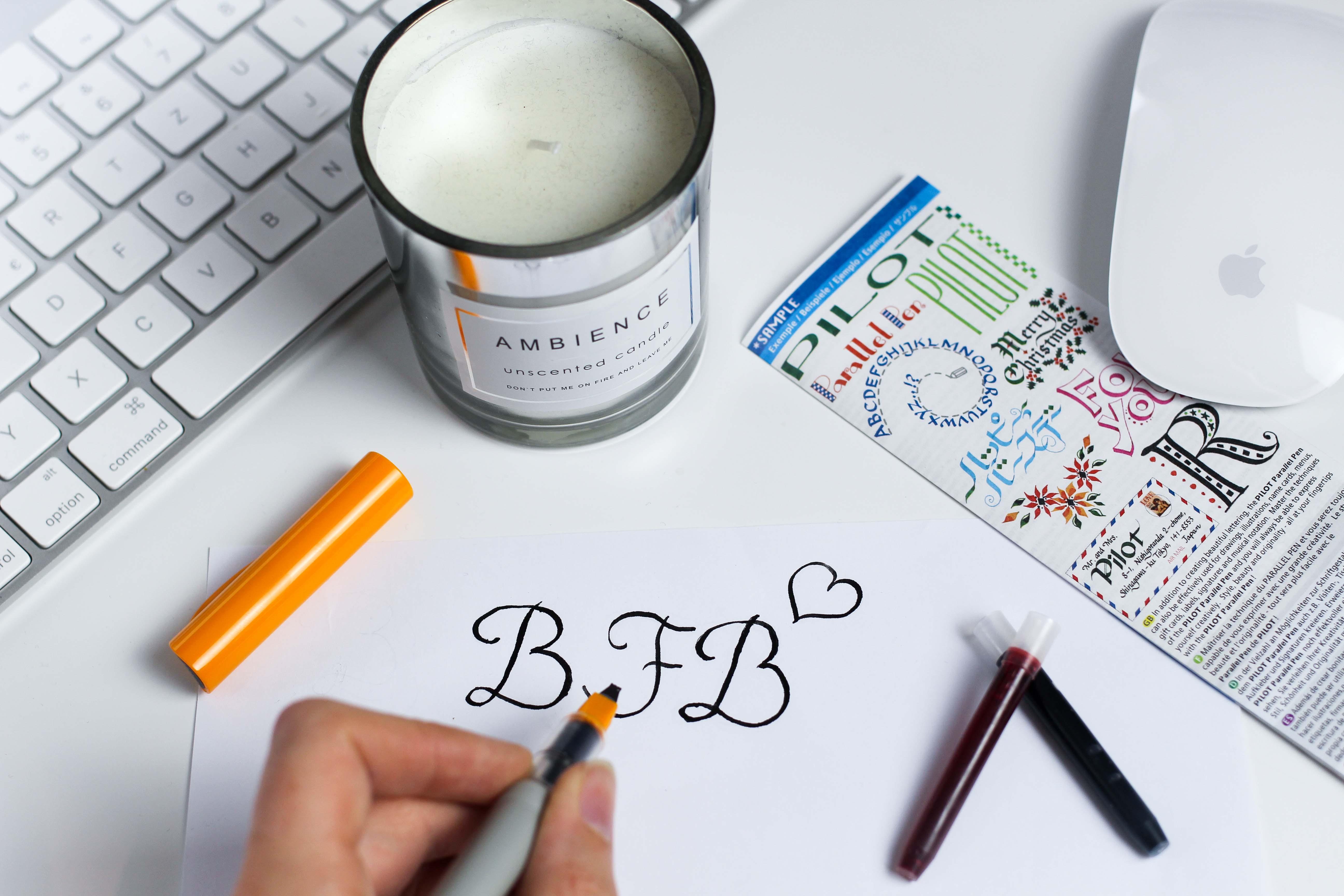 Blogger Adventskalender Kalligrafie-Füller Pilot Pen Lettering Blog Organizer kreativ 3
