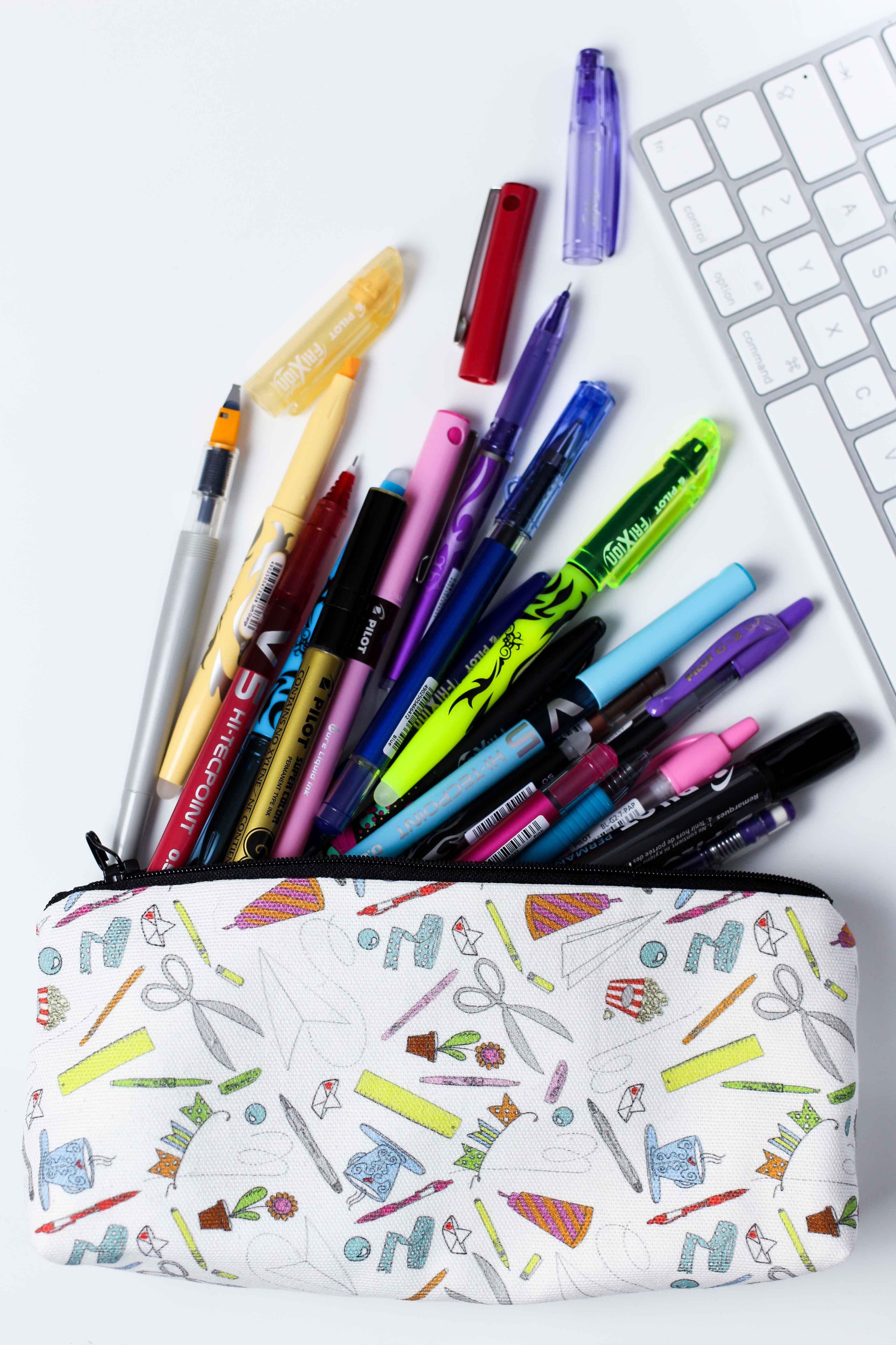 Blogger Adventskalender Mäppchen Stifte Pilot Pen Lettering Bleistift Textmarker Gelschreiber Blog Organizer kreativ 2