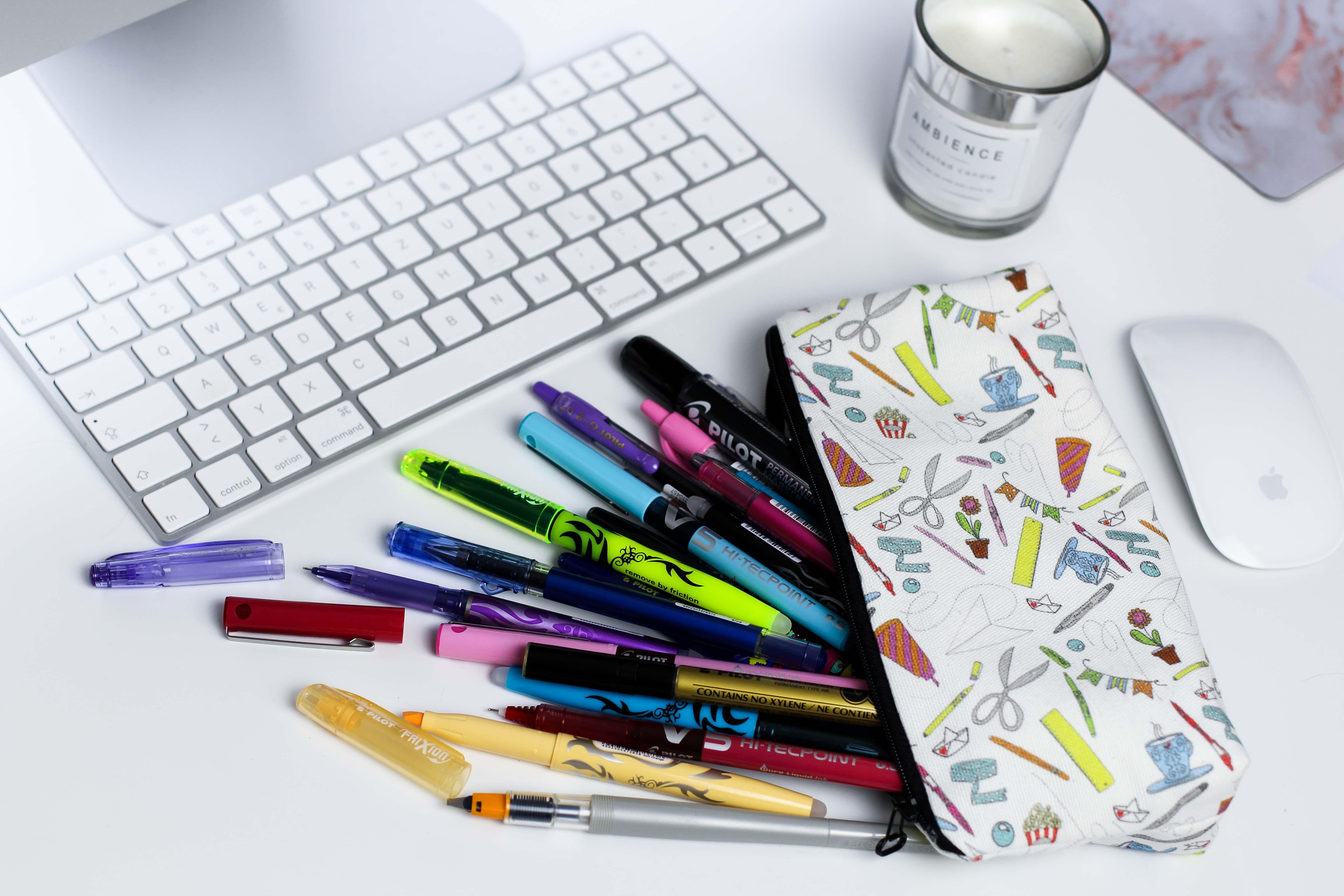 Blogger Adventskalender Mäppchen Stifte Pilot Pen Lettering Bleistift Textmarker Gelschreiber Blog Organizer kreativ