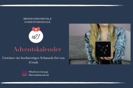Blogger Adventskalender iCrush hochwertiges Schmuckset rosegold Spread the love filligrane Kette Mond Tropfen iCrush Brinisfashionbook 7