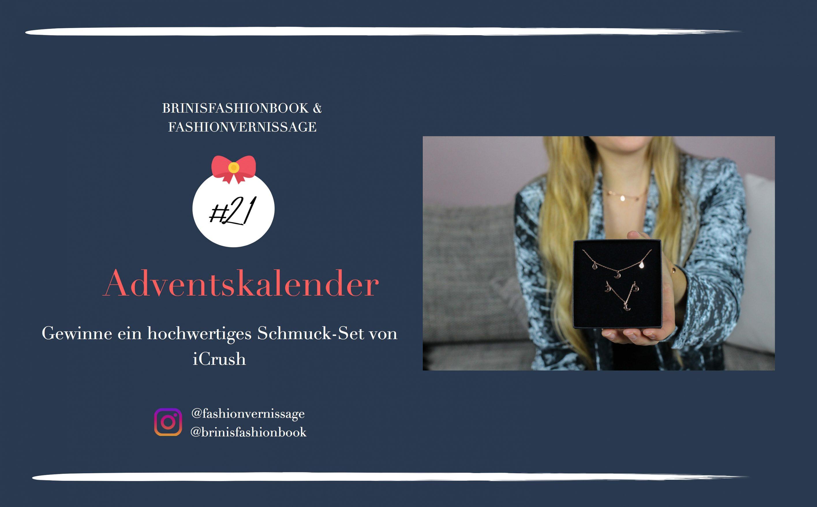 Blogger Adventskalender iCrush hochwertiges Schmuckset rosegold Spread the love filligrane Kette Mond Tropfen iCrush Brinisfashionbook 7