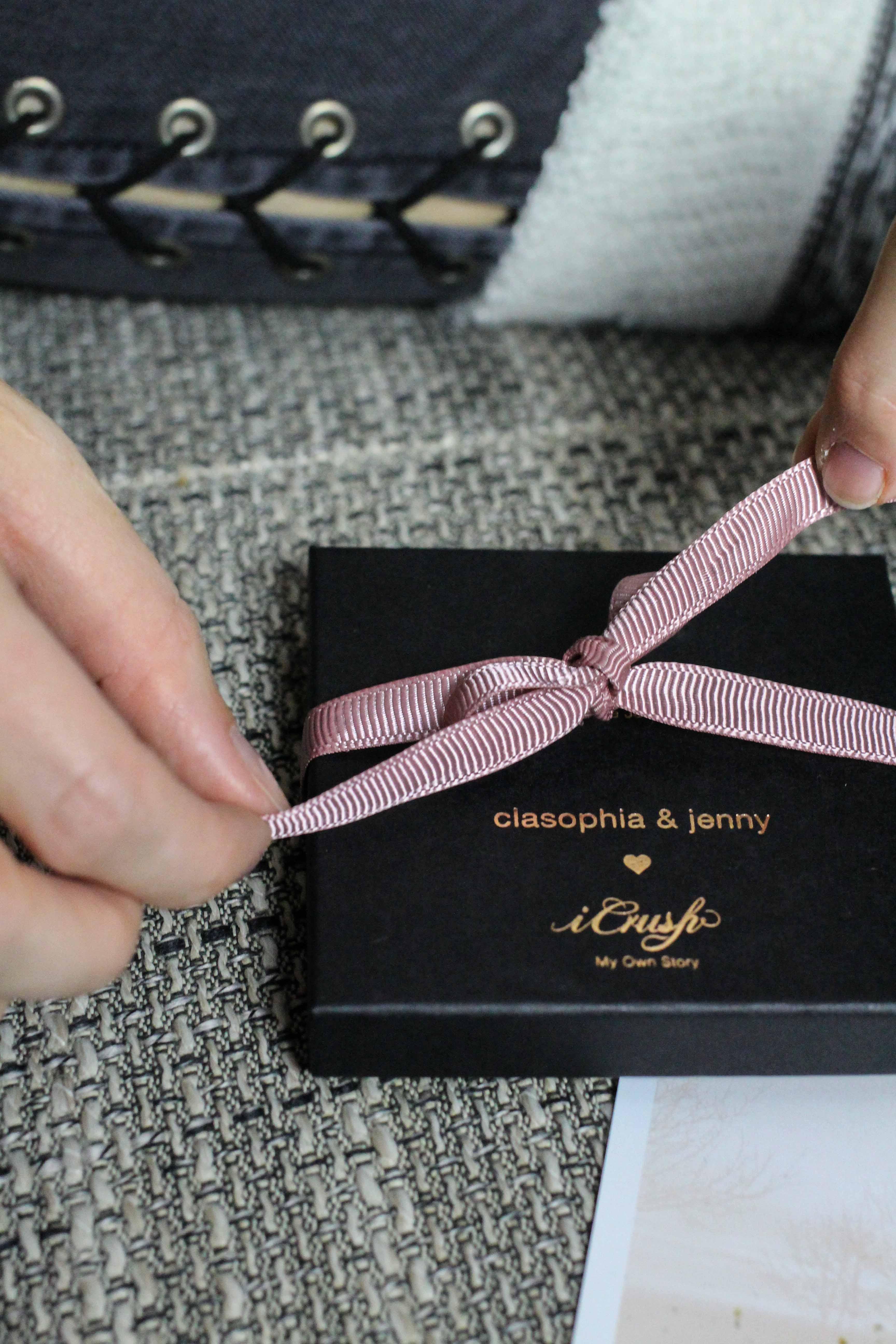Blogger Adventskalender iCrush hochwertiges Schmuckset rosegold Spread the love filligrane Kette Mond Tropfen iCrush Weihnachtsgeschenk