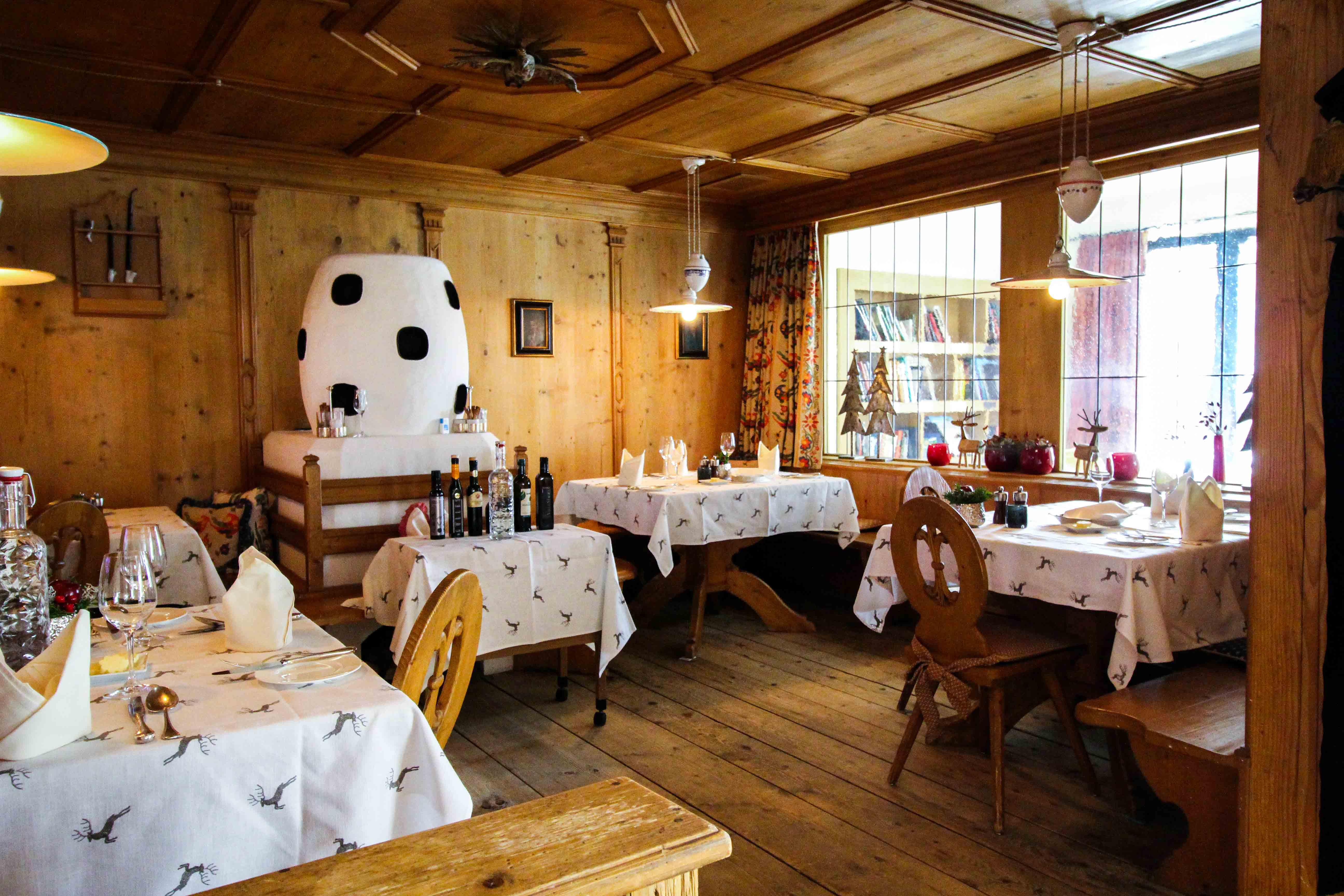 Gourmethotel Sölden Restaurant Ötztaler Stube traditionell Das Central Sölden Luxushotel Sölden Tirol Österreich Winterurlaub Reiseblog
