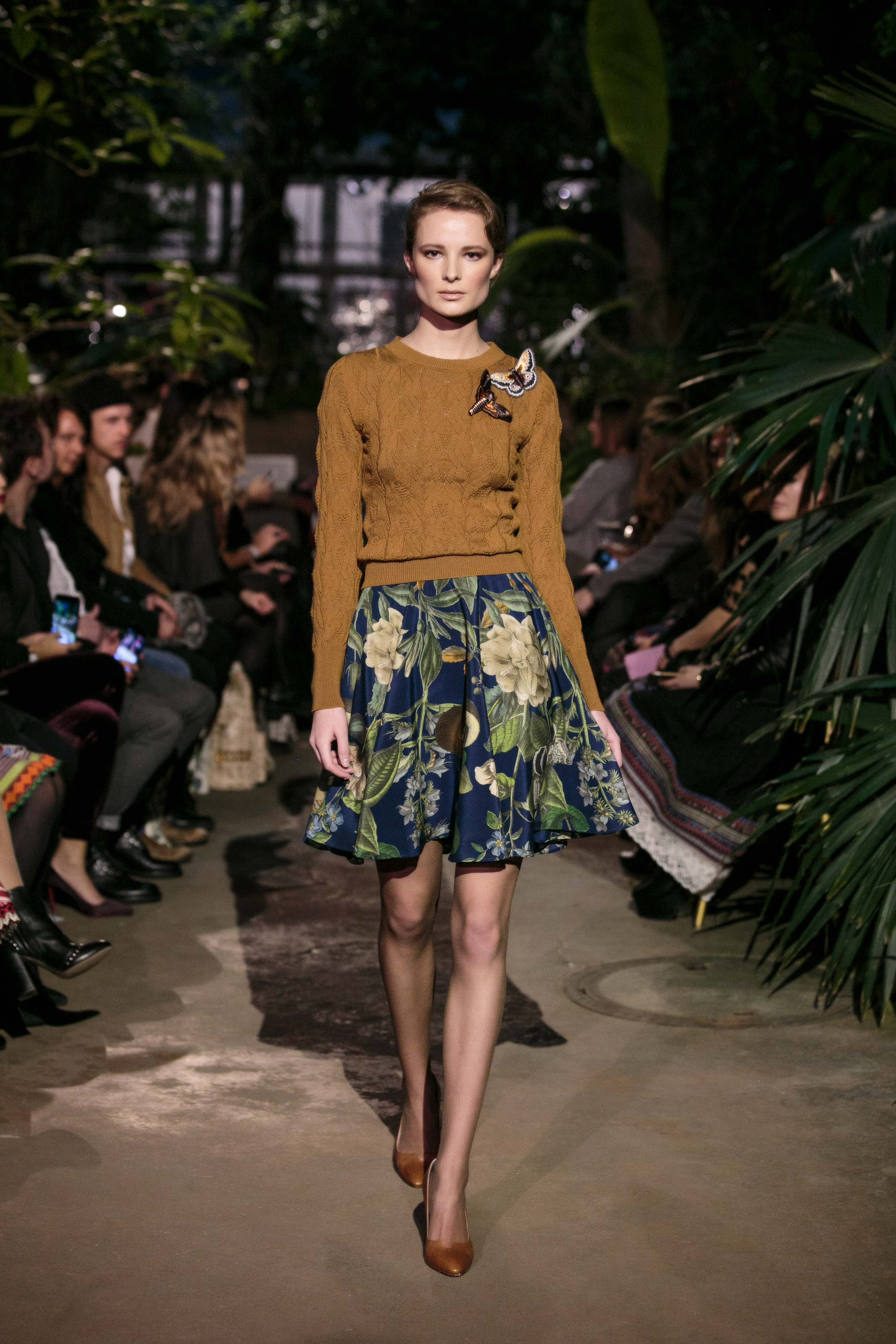 Herbst winter Trends 2018 Floral Prints Modeblog Lena Hoschek RUNWAY AUTUMN WINTER 2018 2019 WINTERGARDEN 4