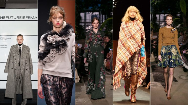Berlin Fashion Week autumn winter 2018 Herbst und Winter Trends 2018 2019 Karaomuster Blumenprint Business woman
