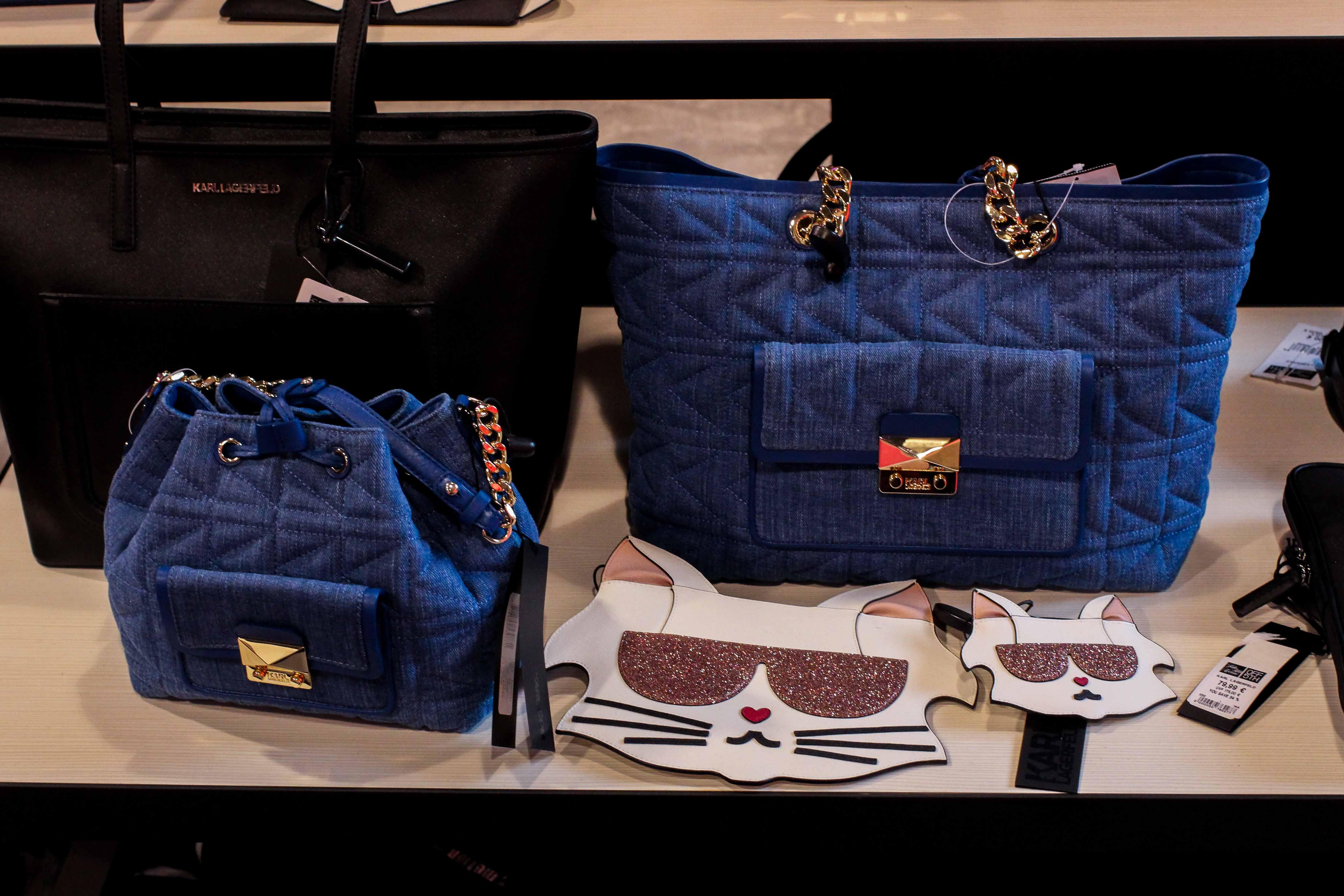 Karl Lagerfeld Taschen blau schwarz Store Opening Saks OFF 5th Avenue Bonn Premium-Marken Outletpreis Designer Outlet Bonn Modeblog