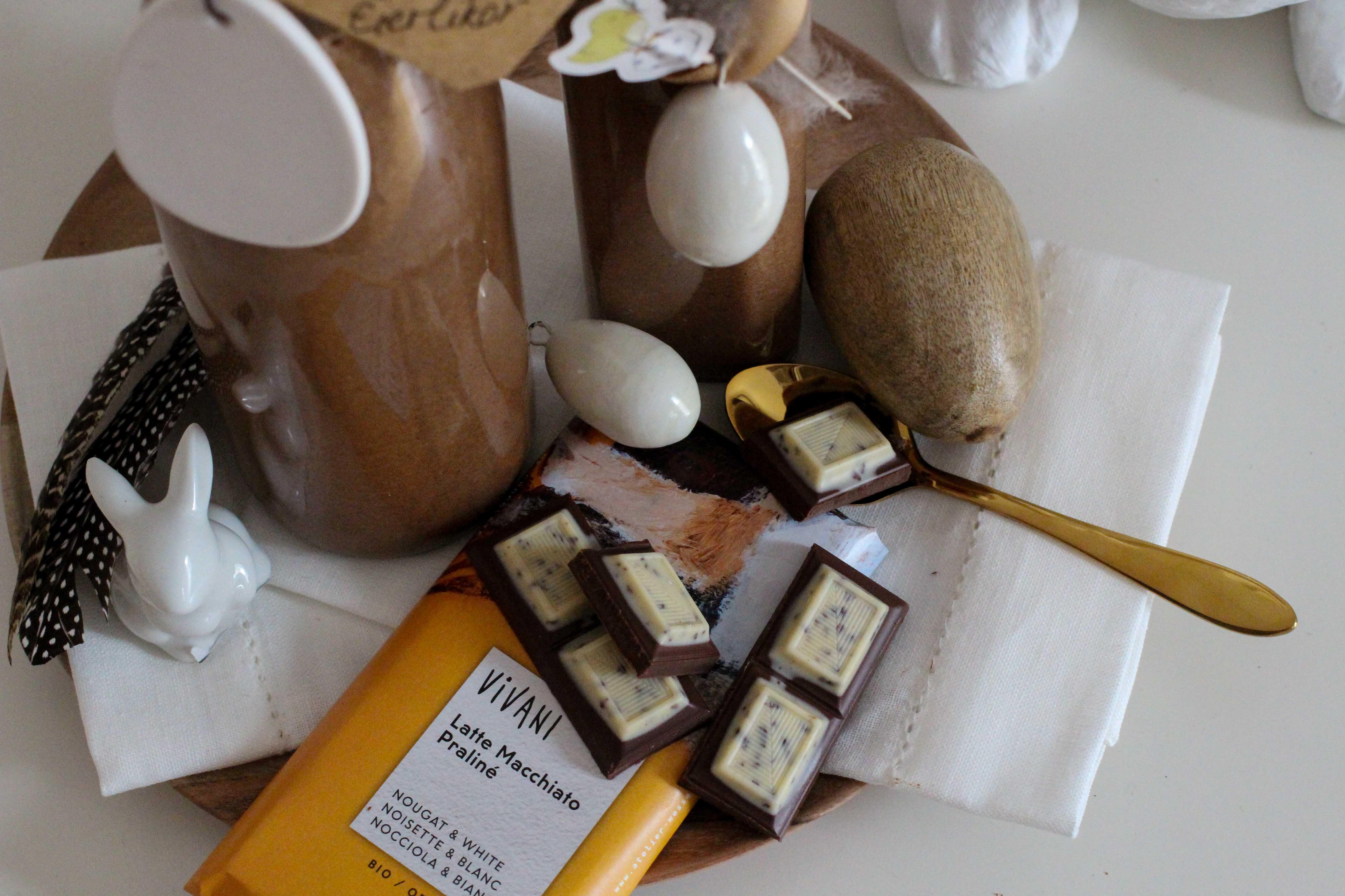 Latte Macchiato Schoko-Eierlikör Rezept einfach selber machen Ostern Vivani Latte Macchiato Praline Schokolade 3