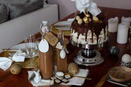 Latte Macchiato Schoko-Eierlikör Rezept einfach selber machen Ostern Vivani Möhrenkuchen mit Schokoladenüberzug Ostern 2