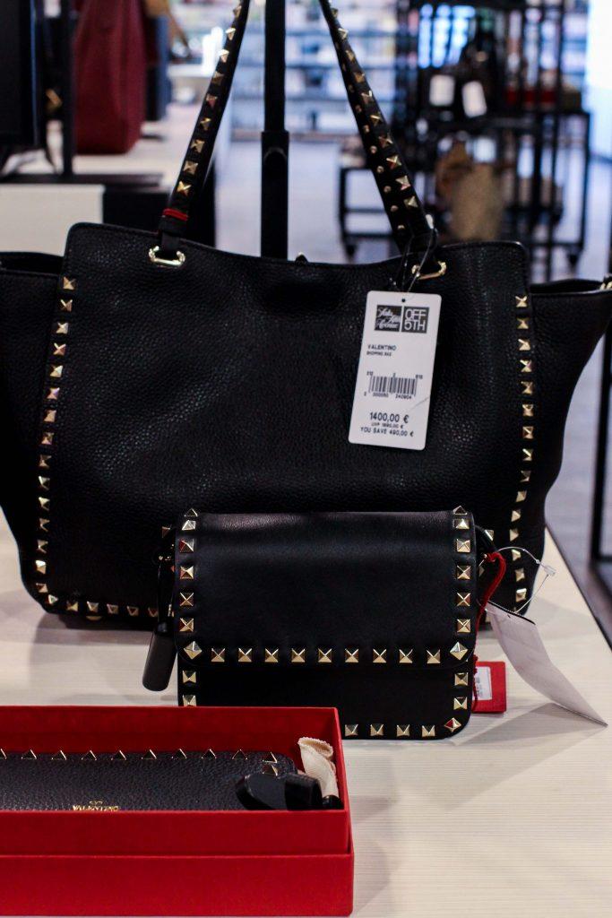 Valentino Tasche Schwarz nieten günstig Store Opening Saks OFF 5th Avenue Bonn Premium-Marken Outletpreis Designer Outlet Bonn Modeblog