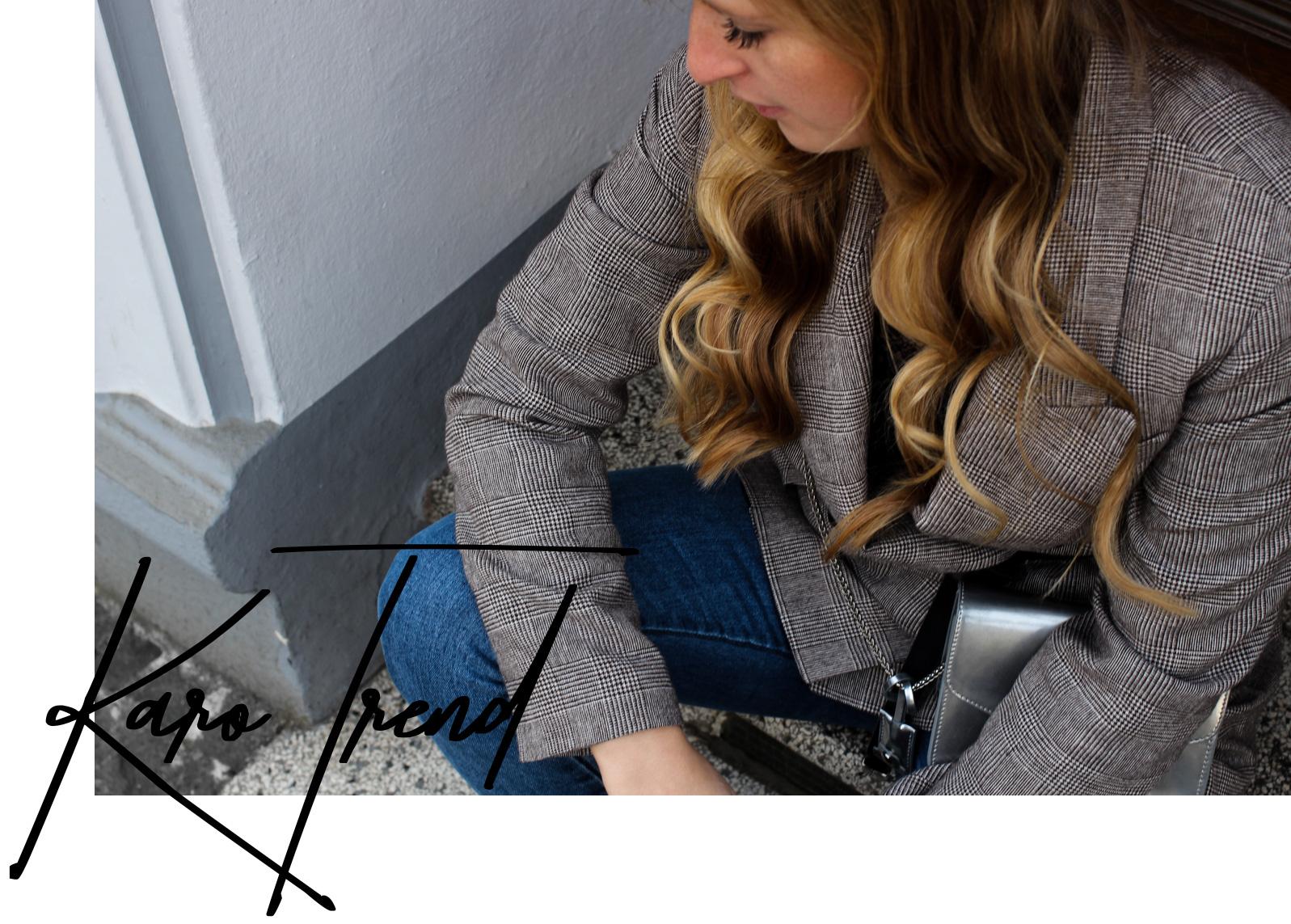 Frühlingstrend 2018 Karomuster Kombinationstipps Modeblog Karo kombinieren Outfit karrierter Blazer Fashion Blogger