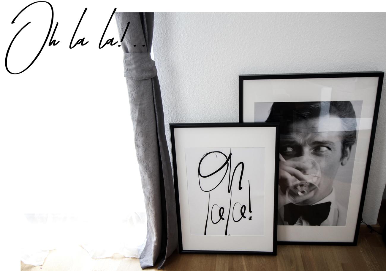 Interior Update Minimalistische Schwarz Weiß Fotografie Poster Posterlounge Einrichtung Oh la la Bild Wohnzimmer James Bond 007 Blog