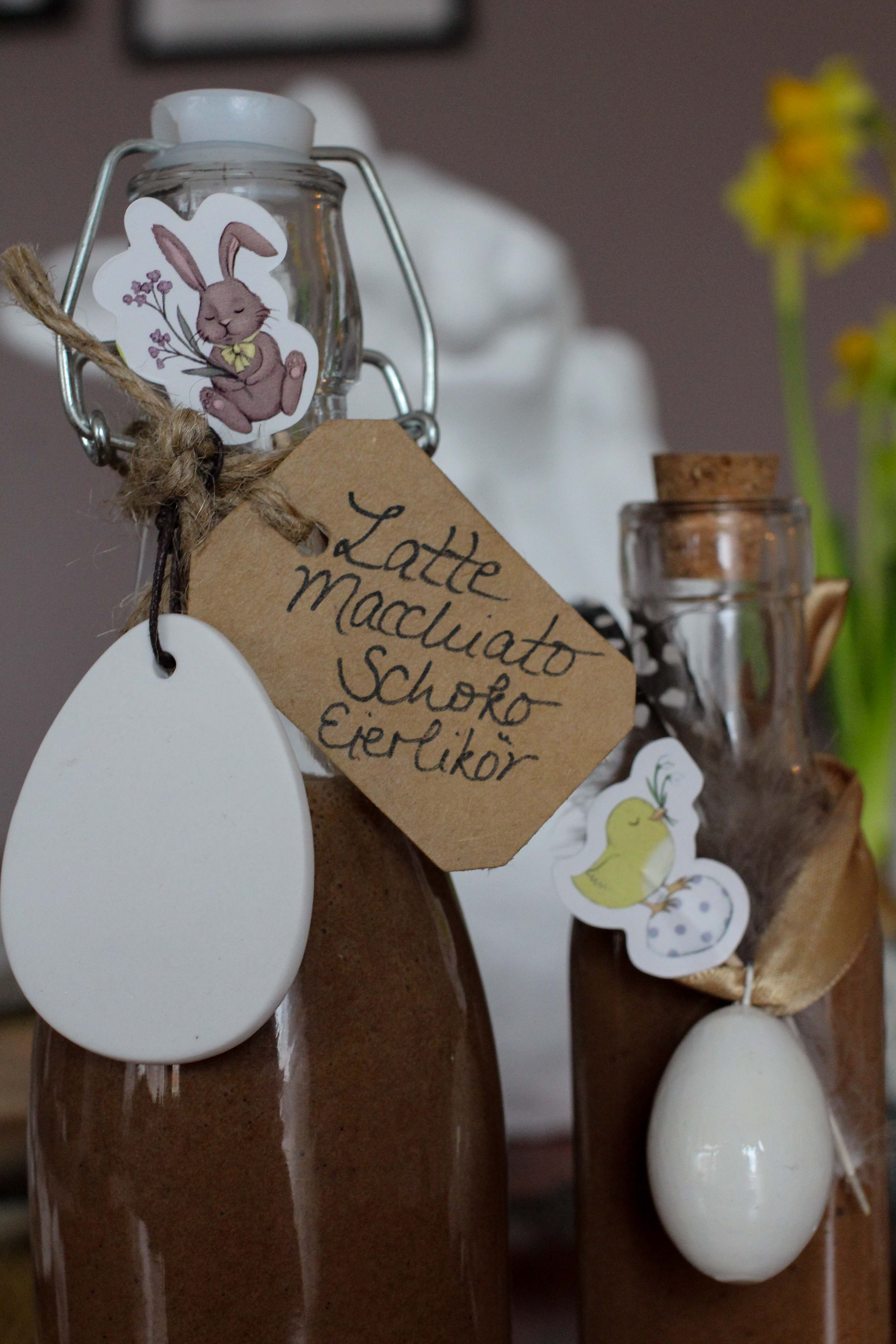 Latte Macchiato Schoko-Eierlikör Rezept einfach selber machen Ostern Vivani Oster Geschenk