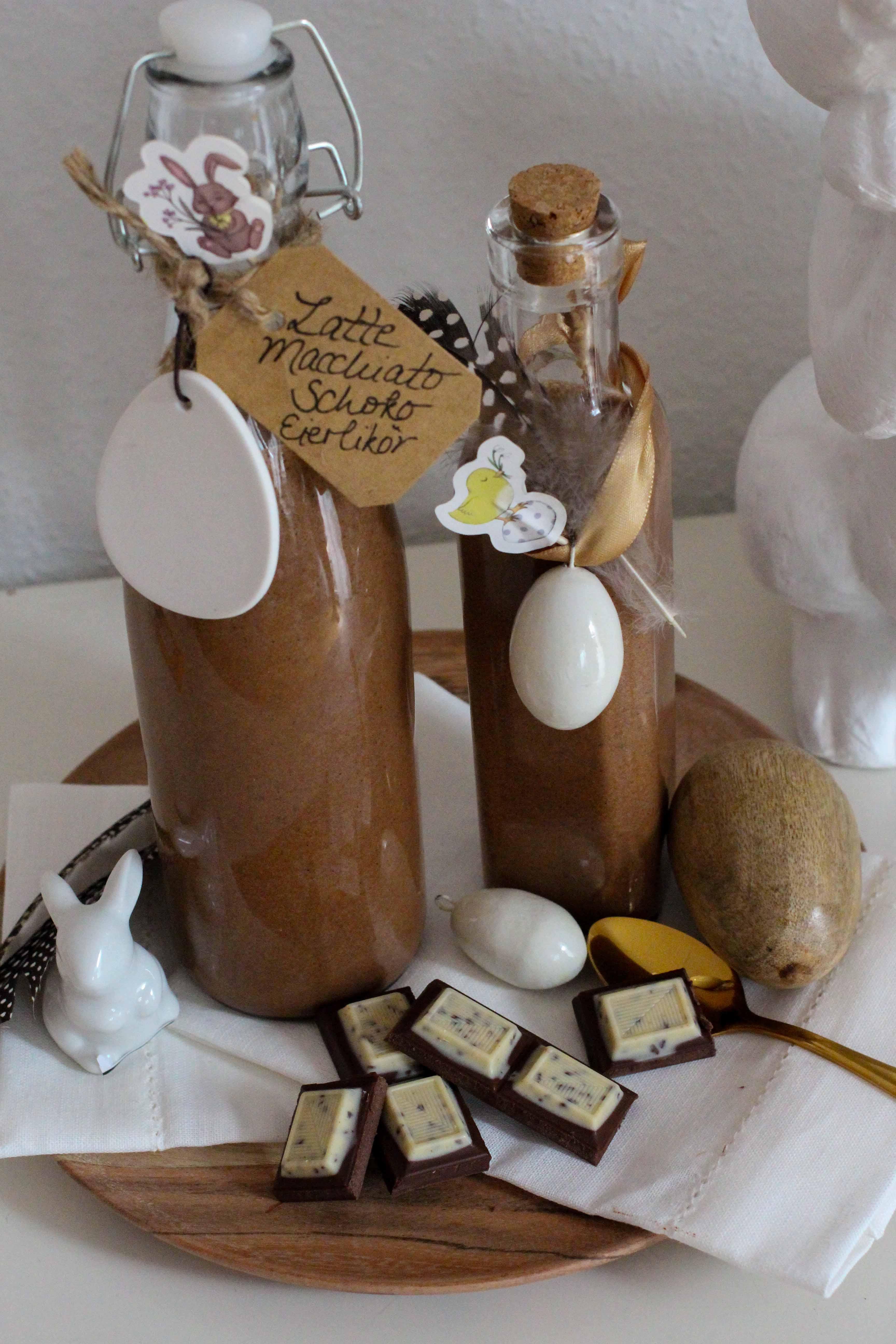 Latte Macchiato Schoko-Eierlikör Rezept einfach selber machen Ostern Vivani Ostergeschenk