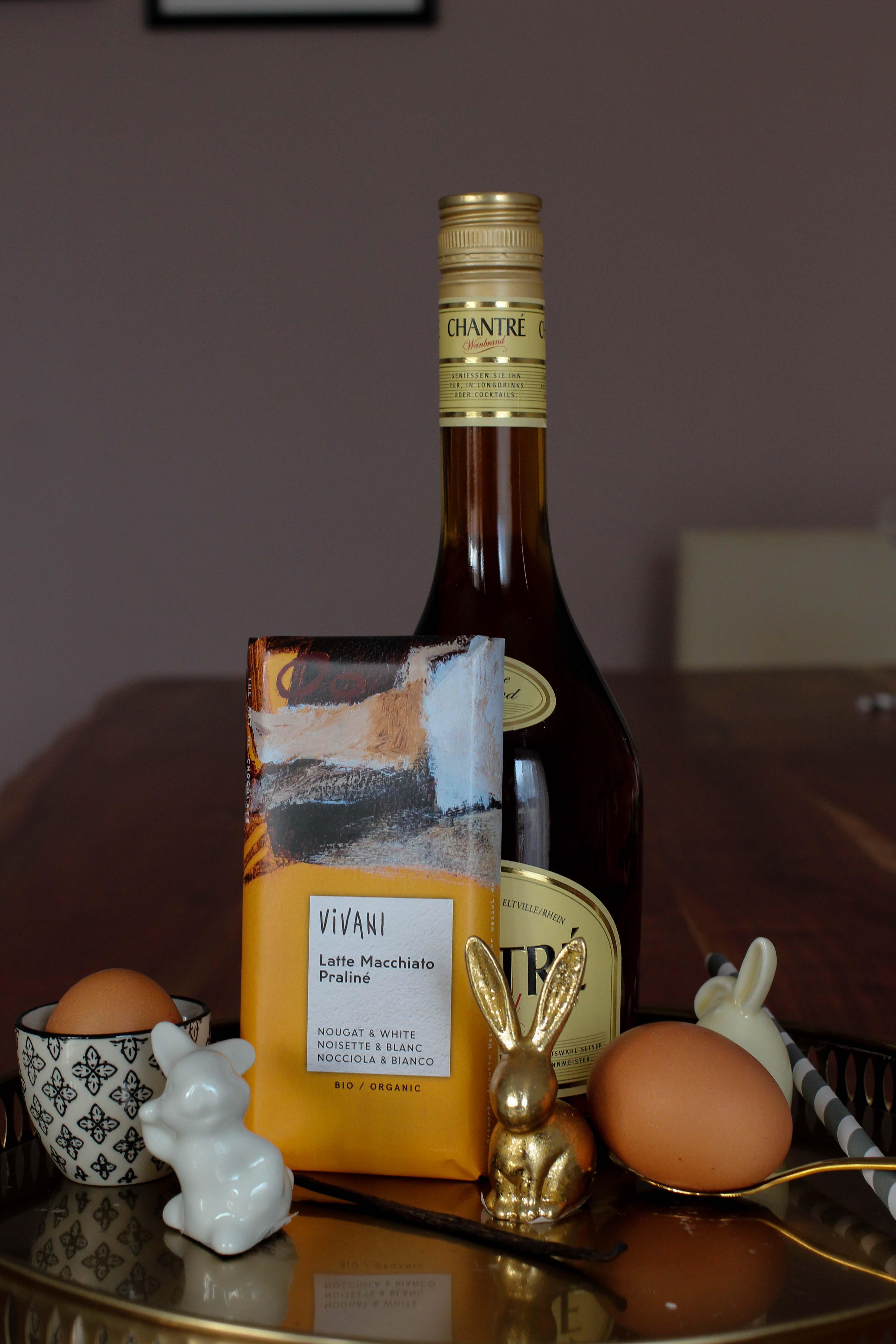 Latte Macchiato Schoko-Eierlikör Rezept einfach selber machen Ostern Vivani Schokolade Zutaten