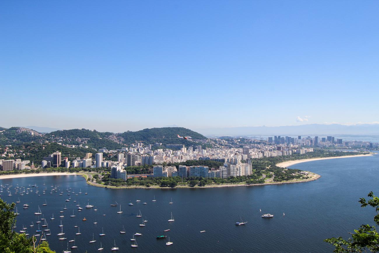2 Wochen Rundreise Brasilien Top Brasilien Route Highlights Rio de Janeiro Aussicht Mittelstation Zuckerhut Reiseblog
