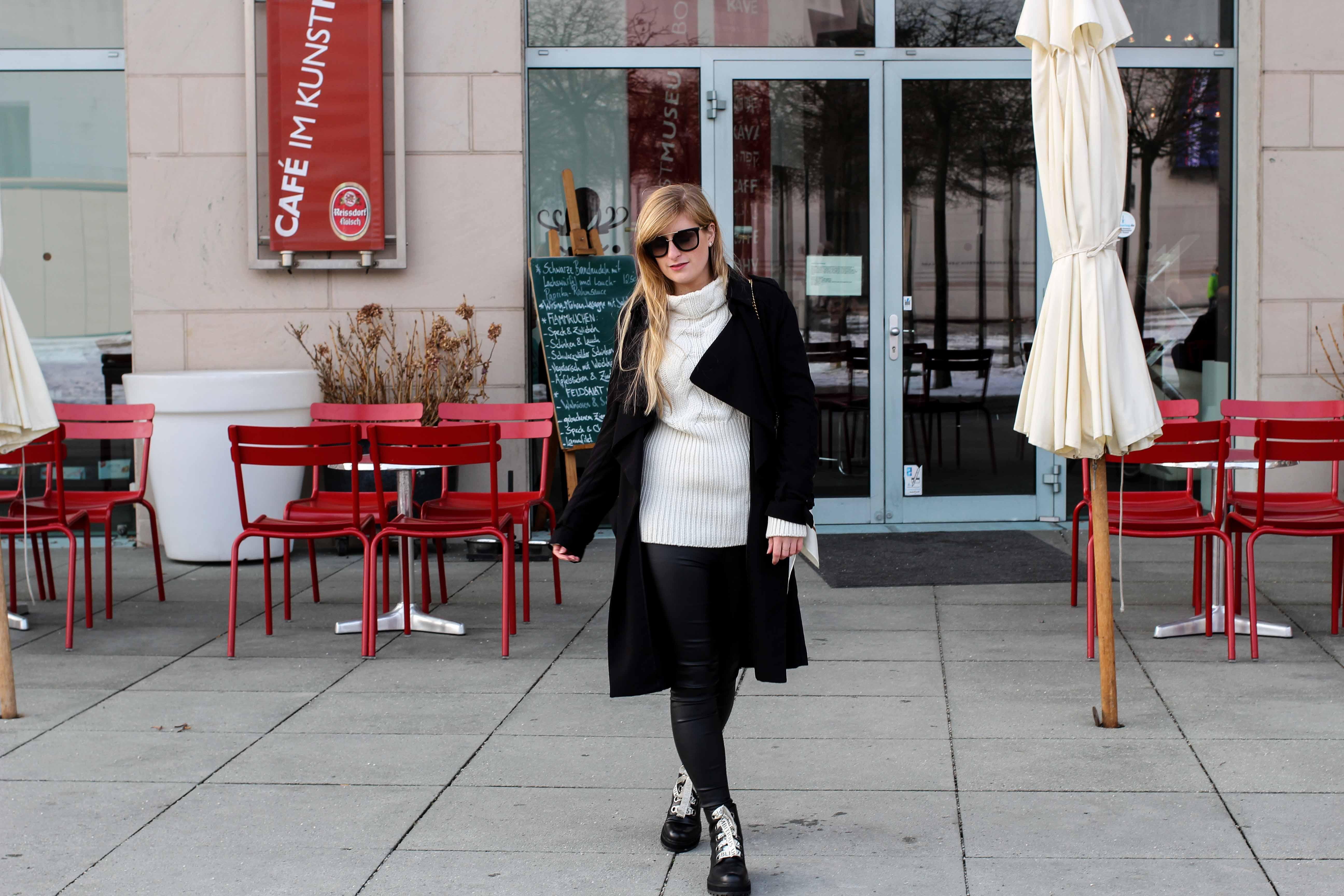Schnürboots Zara Schnürsenkel Gucci Dionysus Garden Print Frühlingslook kältere Tage schwarze Lederleggins Modeblogger Bonn 6