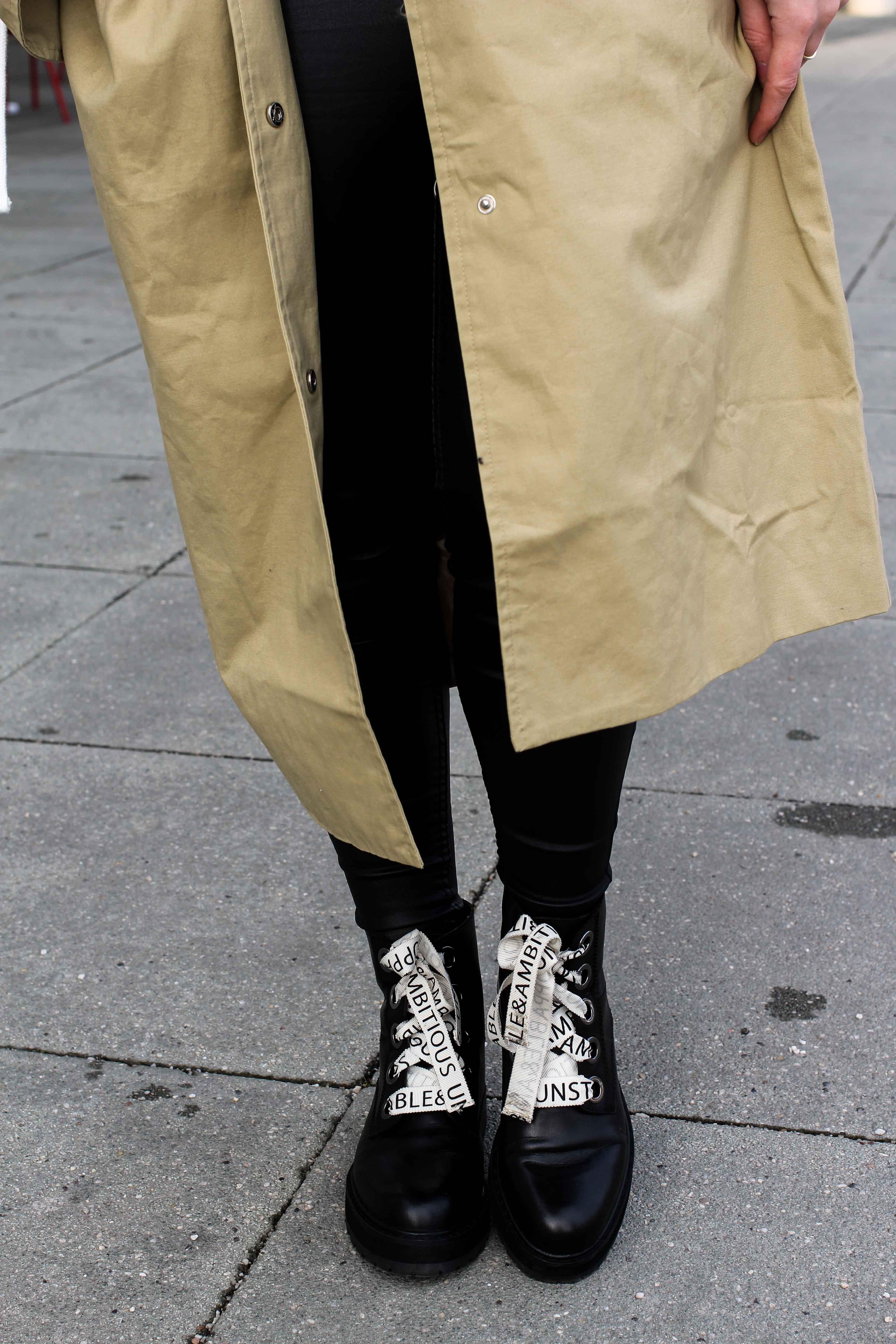 Trenchcoat Edited Marisa Details Schnürboots Zara Modeblog Bonn Trenchcoat kombinieren Streetstyle Fashion Blog