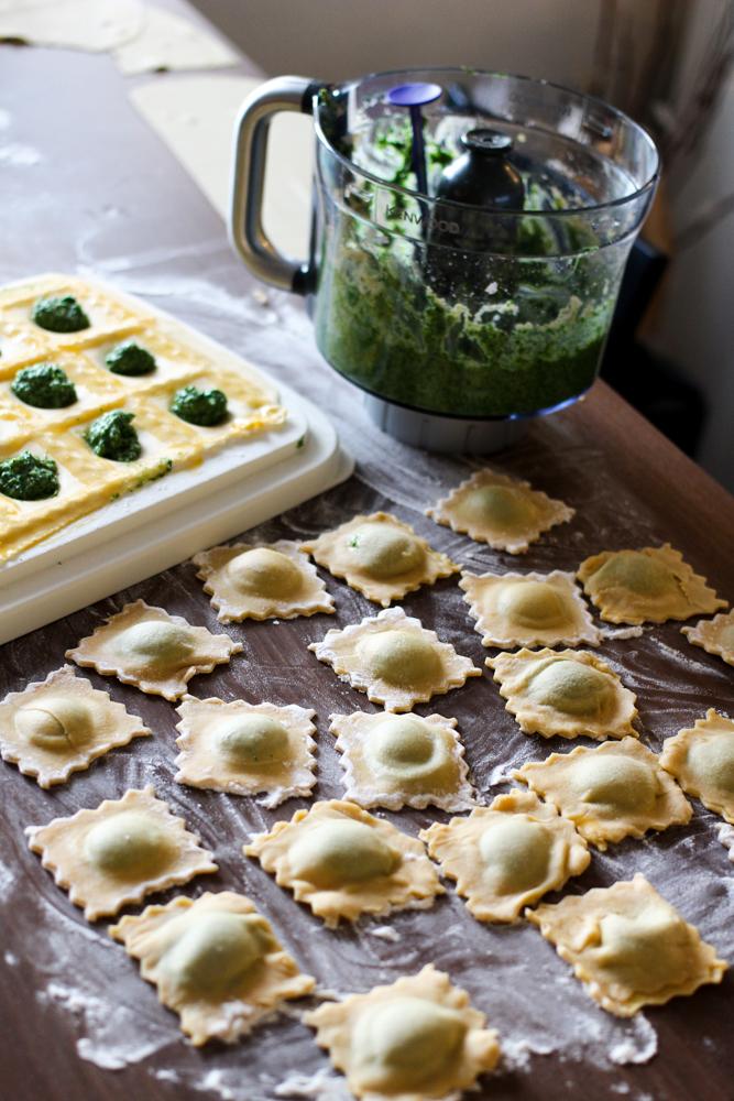 Amazon Kenwood Cooking Chef Gourmet KCC9060S Küchenmaschine Rezept selbstgemachte Ricotta Spinat Ravioli Bewertung Blogger Erfahrungsbericht Test 2018