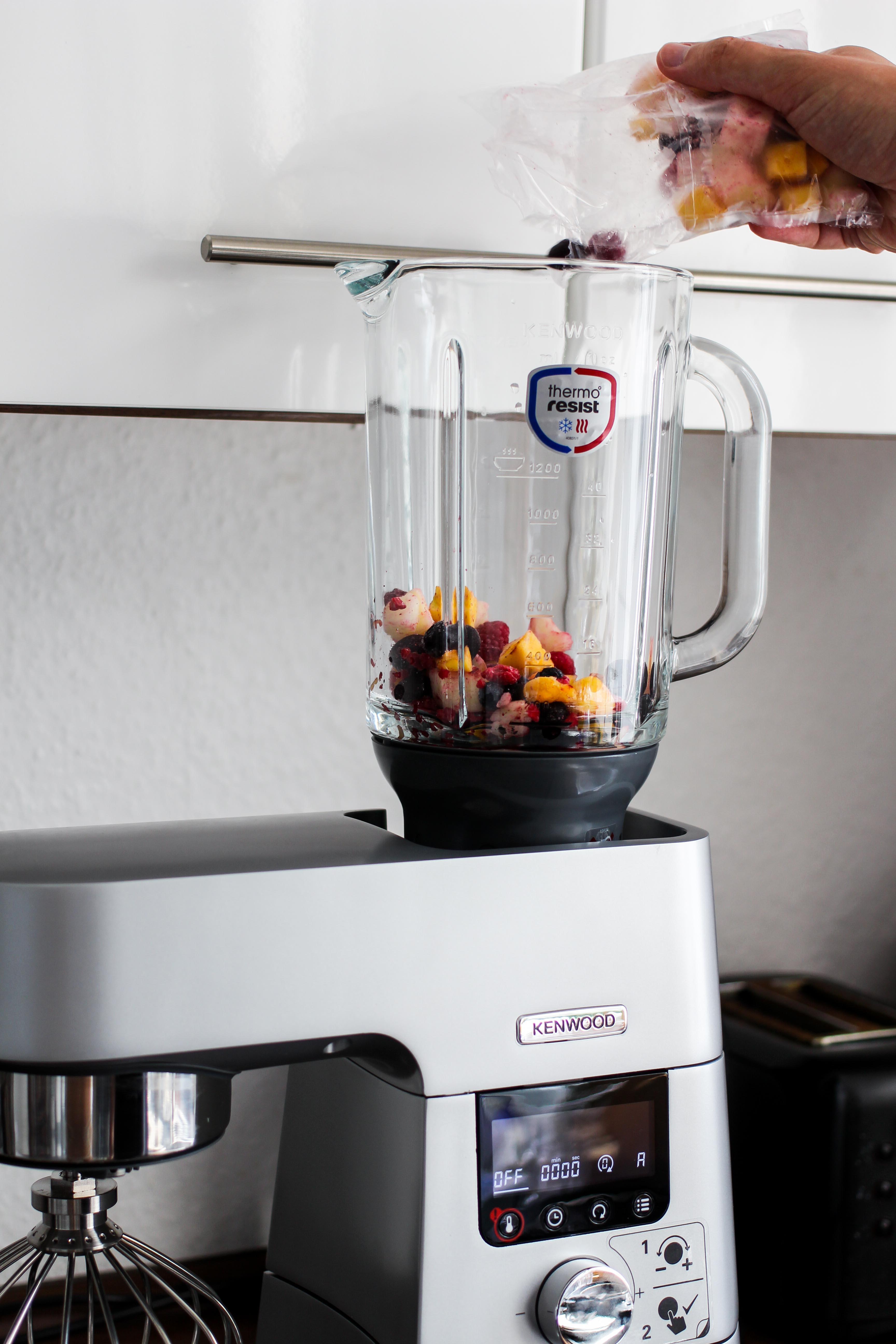 Amazon Kenwood Cooking Chef Gourmet KCC9060S Küchenmaschine ThermoResist Glas-Mixaufsatz Früchte Smoothie Erfahrungsbericht Test 2018