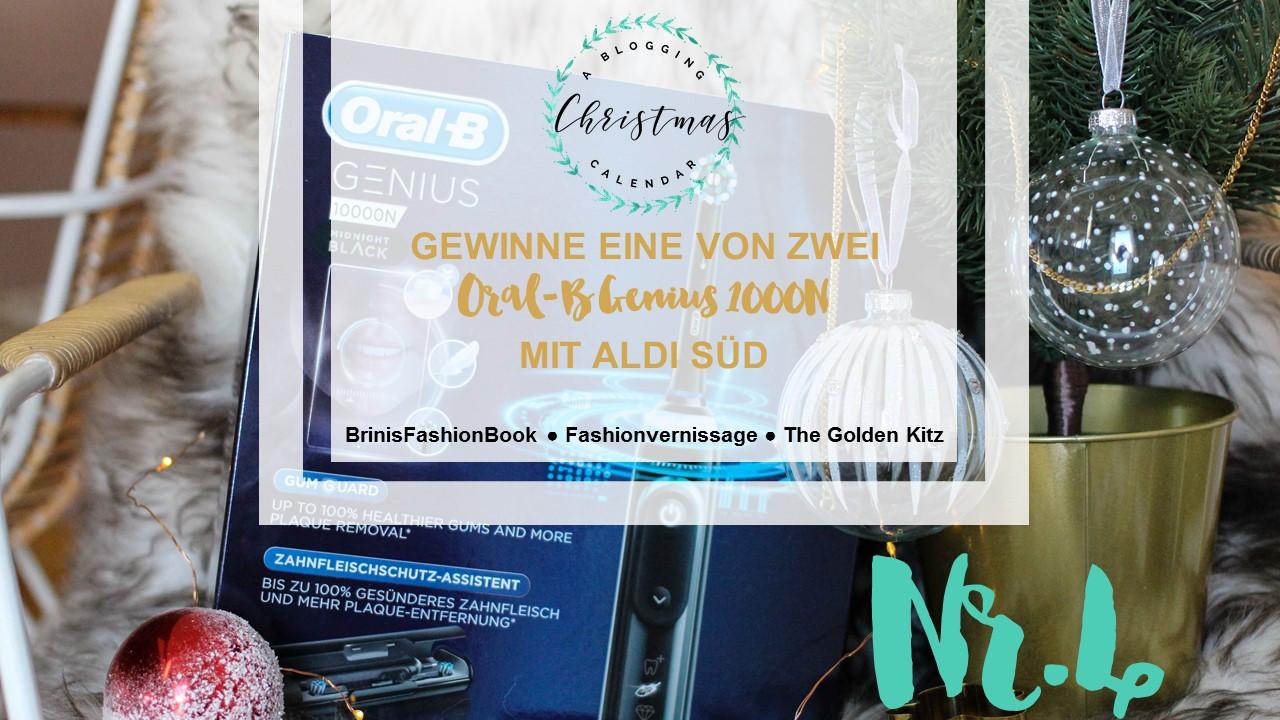Blogger Adventskalender Gewinnspiel Aldi Süd Aldiventskalender Oral B Genius 10000 Black Weihnachten Christmas Blogger Tipps