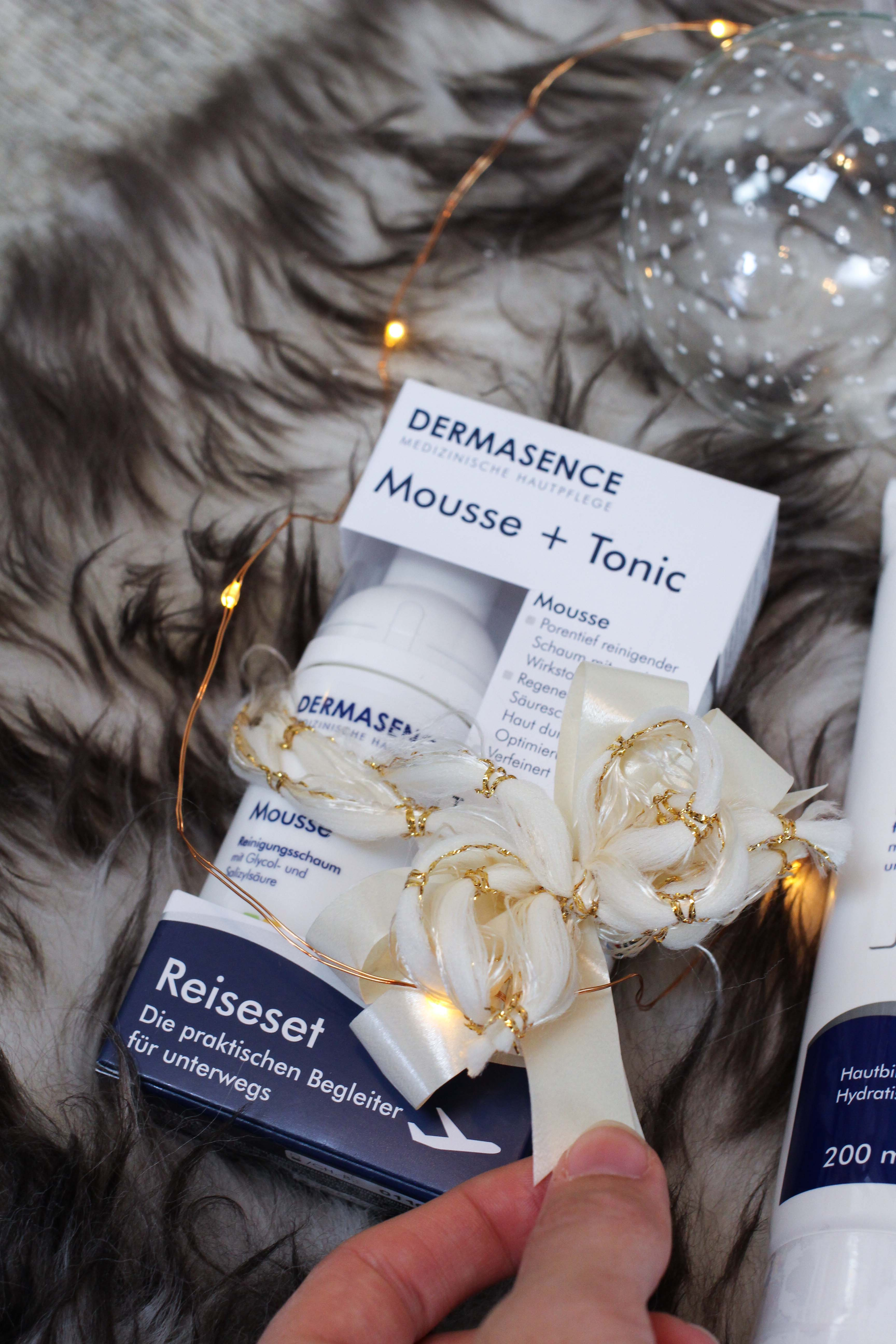 Blogger Adventskalender Gewinnspiel Dermasence Hautpflege Winter Urlaubs-Reiseset Tonic Mousse Reisegröße Beauty Blogger Tipps