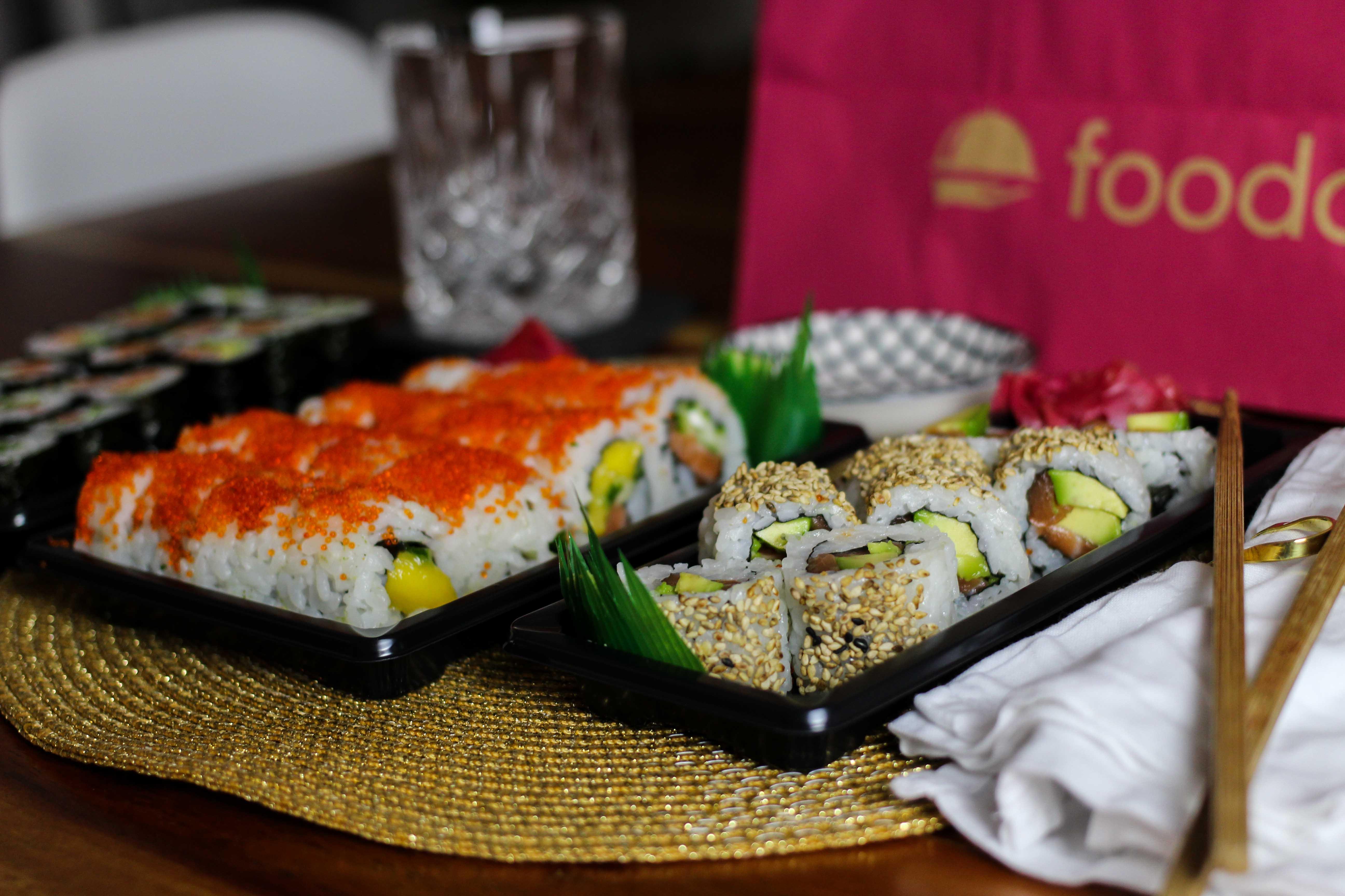 Blogger Adventskalender Gewinnspiel Foodora Gutscheine Foodora Bonn Sushi Makiman 2