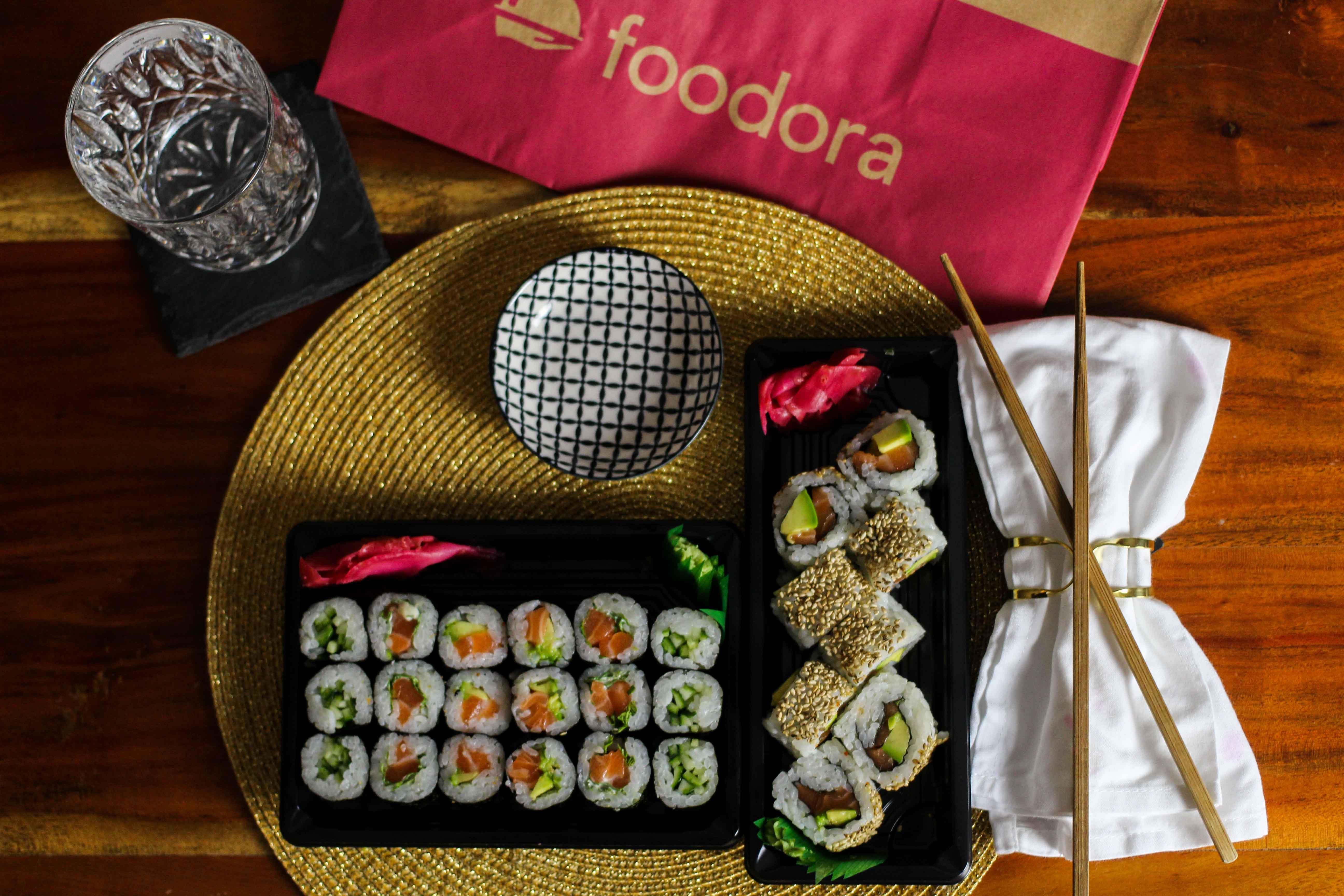 Blogger Adventskalender Gewinnspiel Foodora Gutscheine Foodora Bonn Sushi Makiman 4