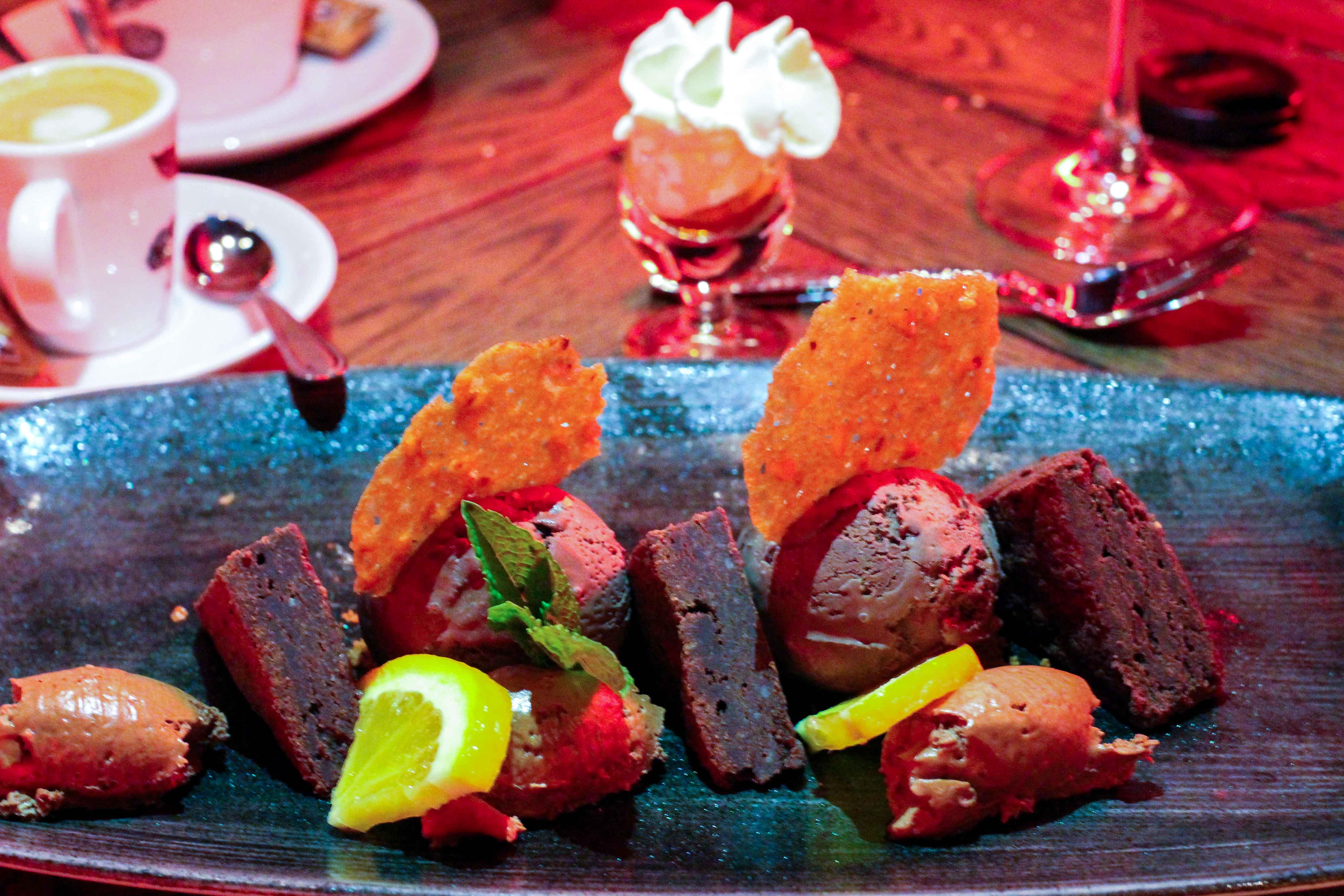 Wochenendtrip Holland das andere Holland Restaurant Arnheim Roadhouse Arnhem Dessert Schokolade