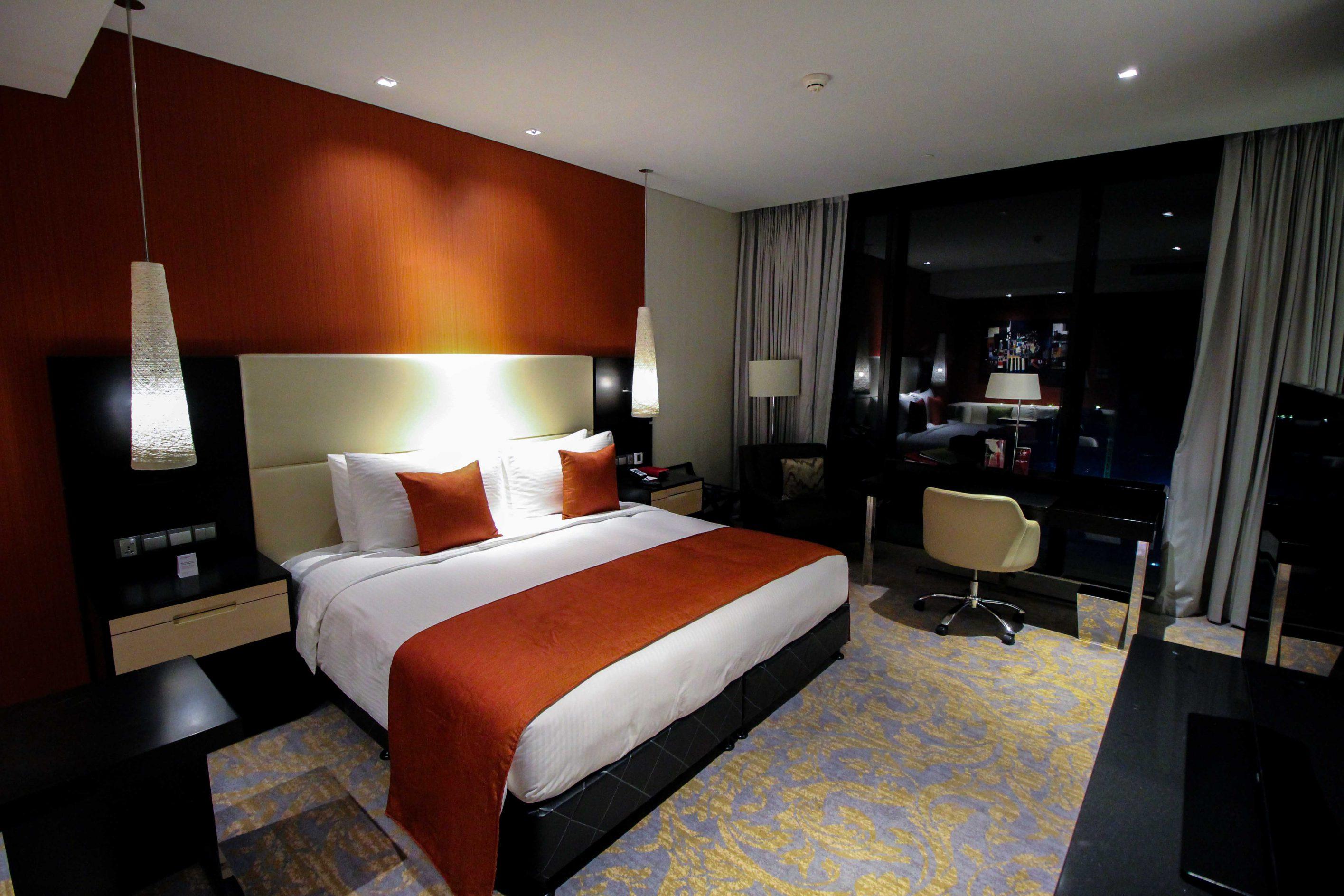 Mövenpick Colombo Hotel Reiseblog Reisebericht Superior Zimmer King-Size Bett Meerblick Rundreise Sri Lanka