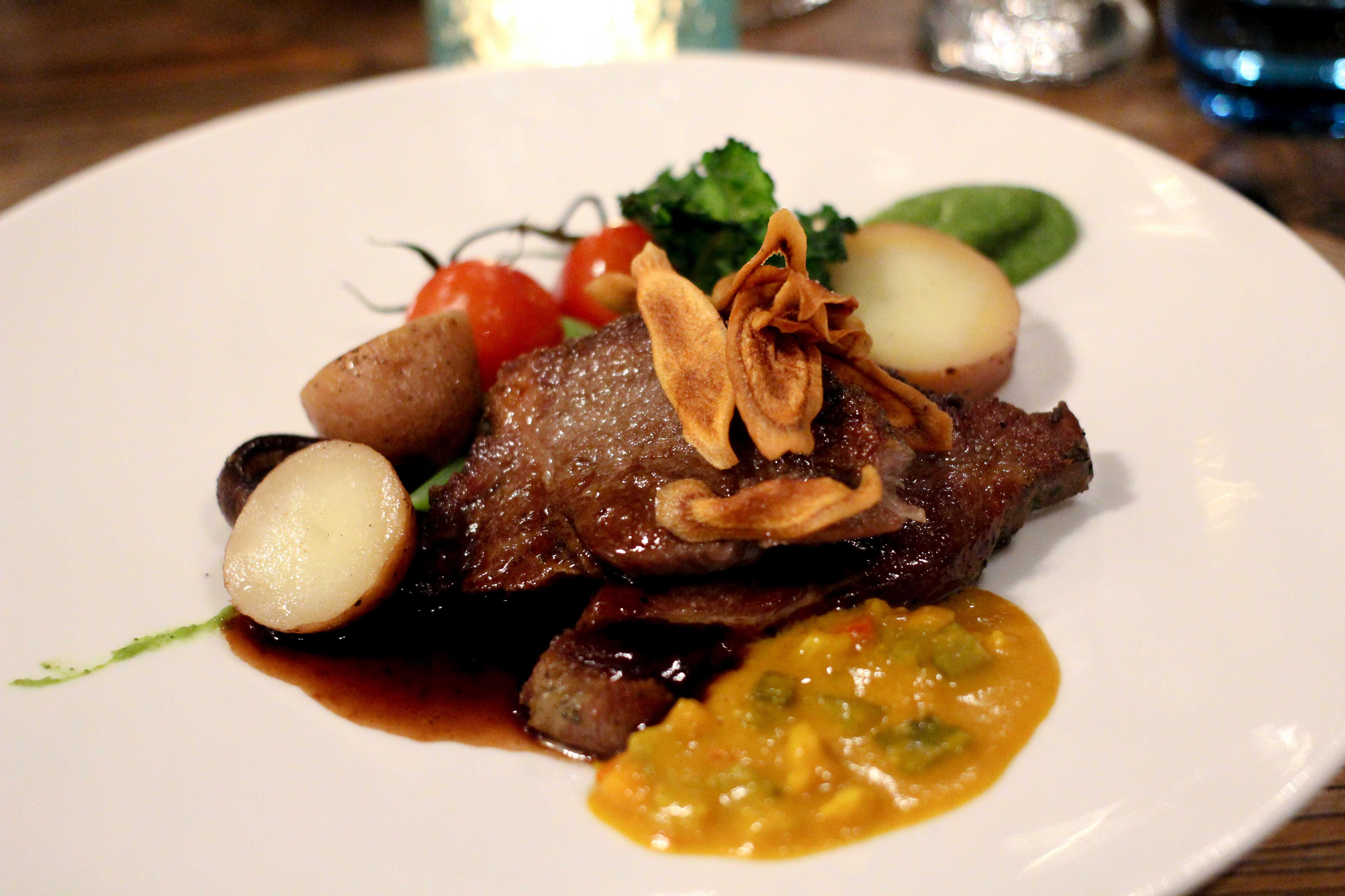 Holland Wochenendtrip Dinner in De Korenmolen Restaurant Appeltern 3 Gänge Menü Hautgericht das andere Holland Reiseblog