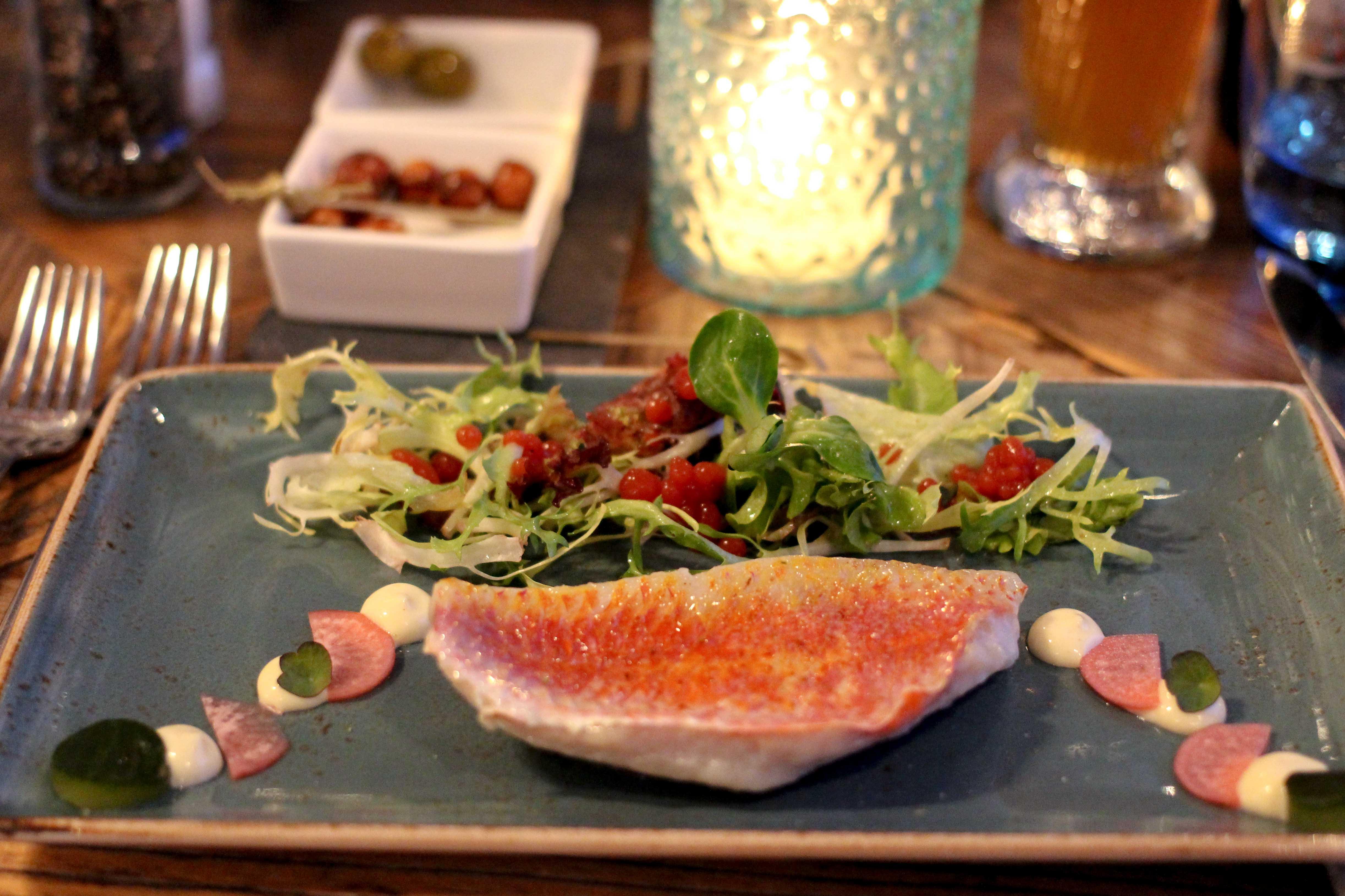 Holland Wochenendtrip Dinner in De Korenmolen Restaurant Appeltern 3 Gänge Menü Vorspeise das andere Holland Reiseblog