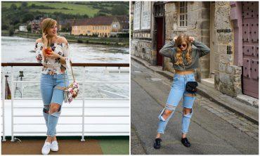 2Ways2Style Two Ways to Style Ripped Jeans kombinieren 2 Möglichkeiten bauchfrei Tasche Look Modeblog Modeblogger